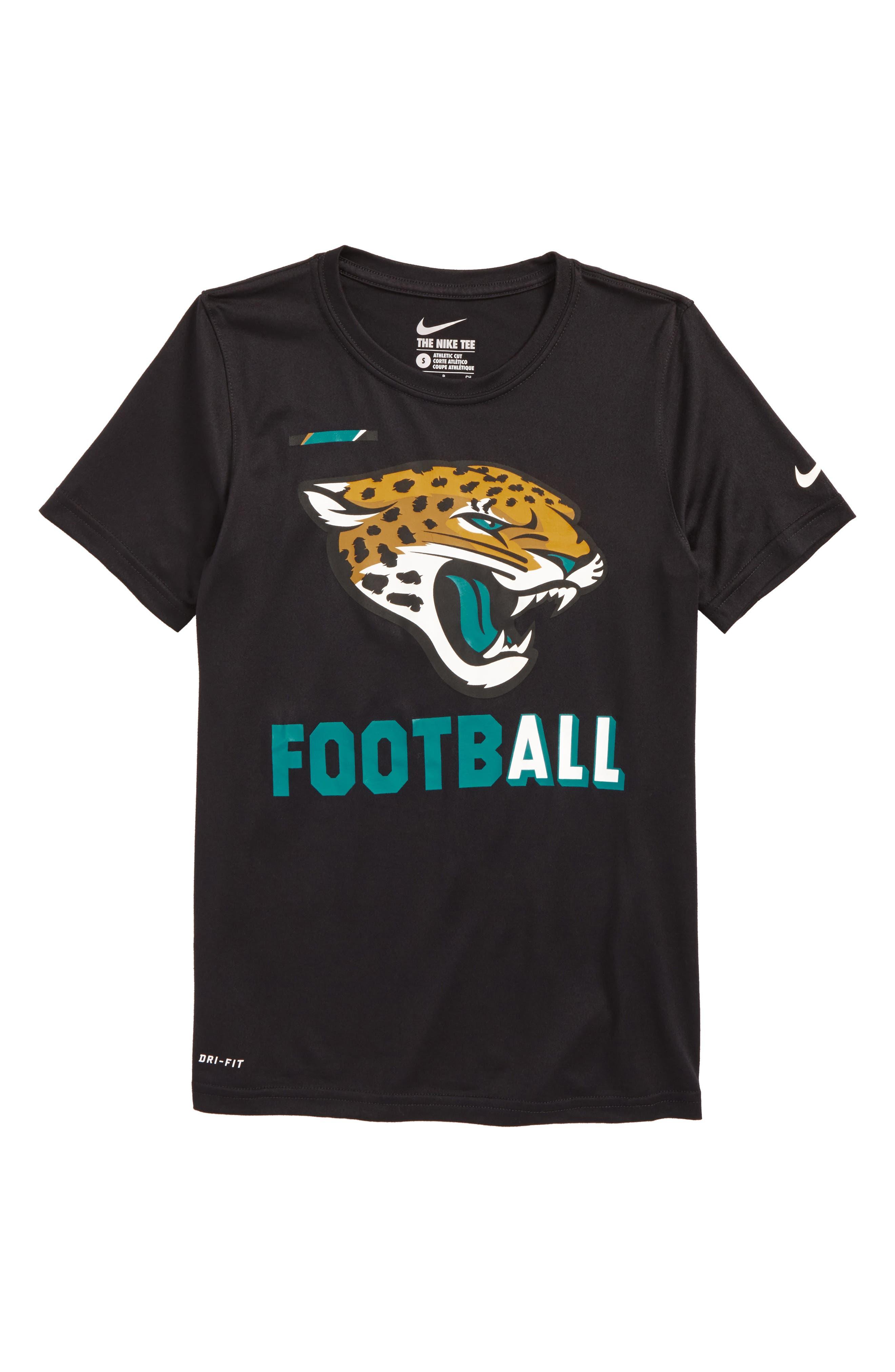 Nike NFL Logo - Jacksonville Jaguars Dry T-Shirt,                             Main thumbnail 1, color,                             Black