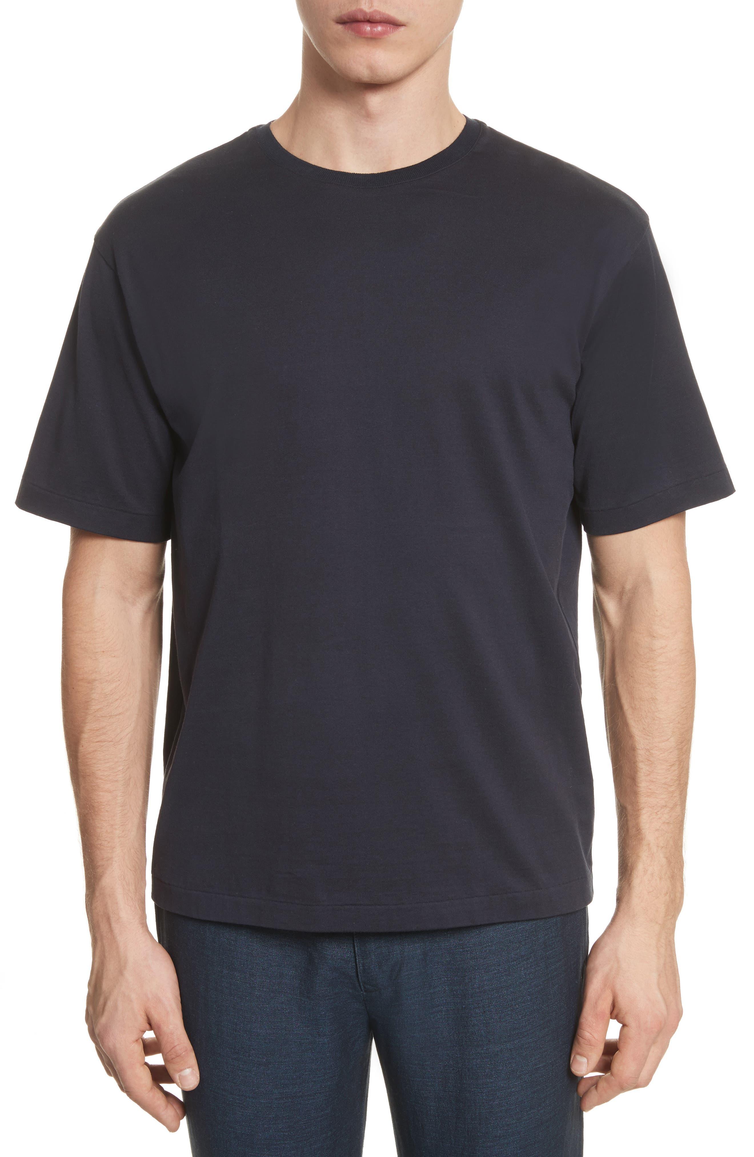 Jersey T-Shirt,                         Main,                         color, Navy