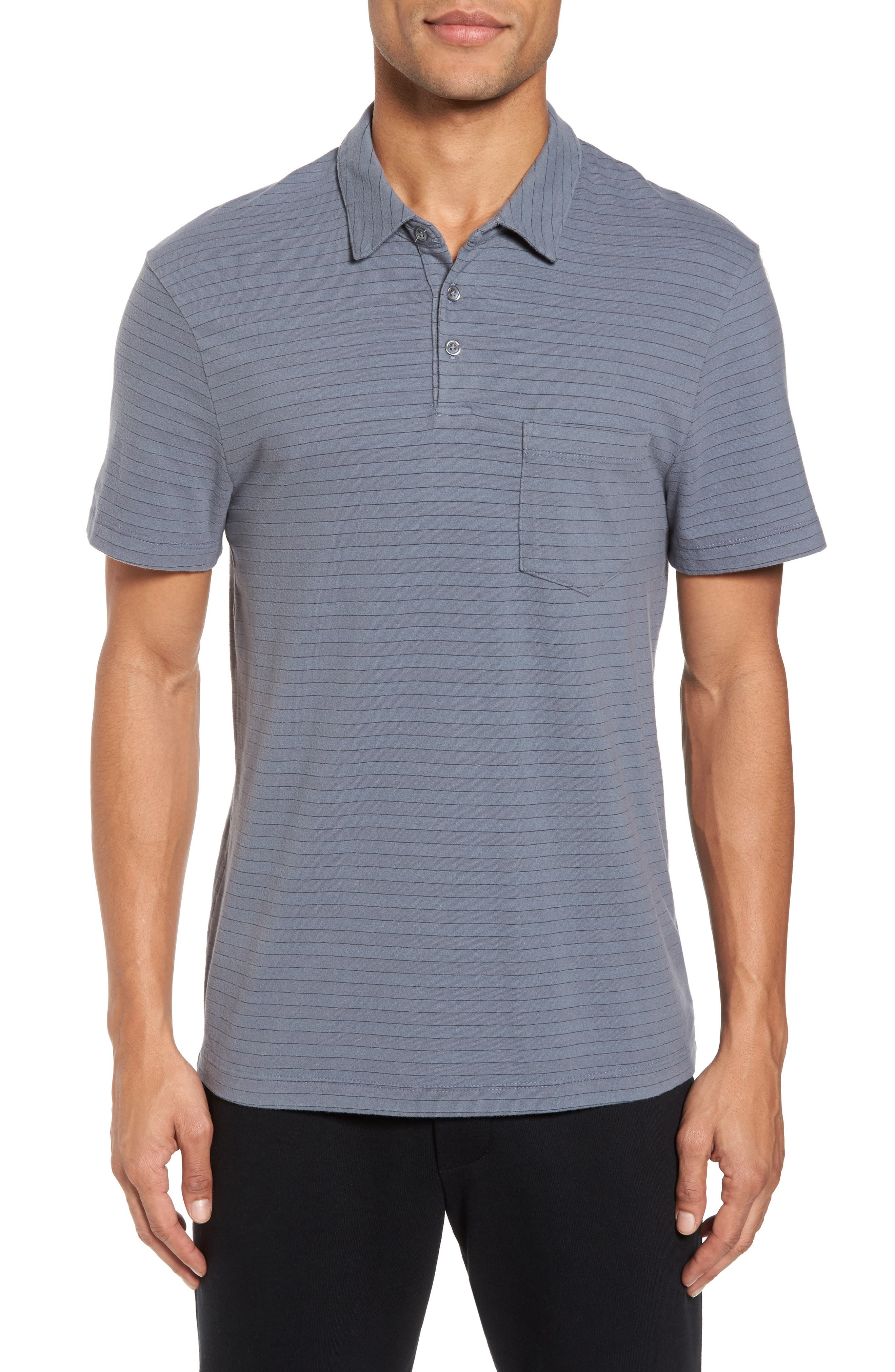 Shadow Stripe Jersey Pocket Polo,                             Main thumbnail 1, color,                             North