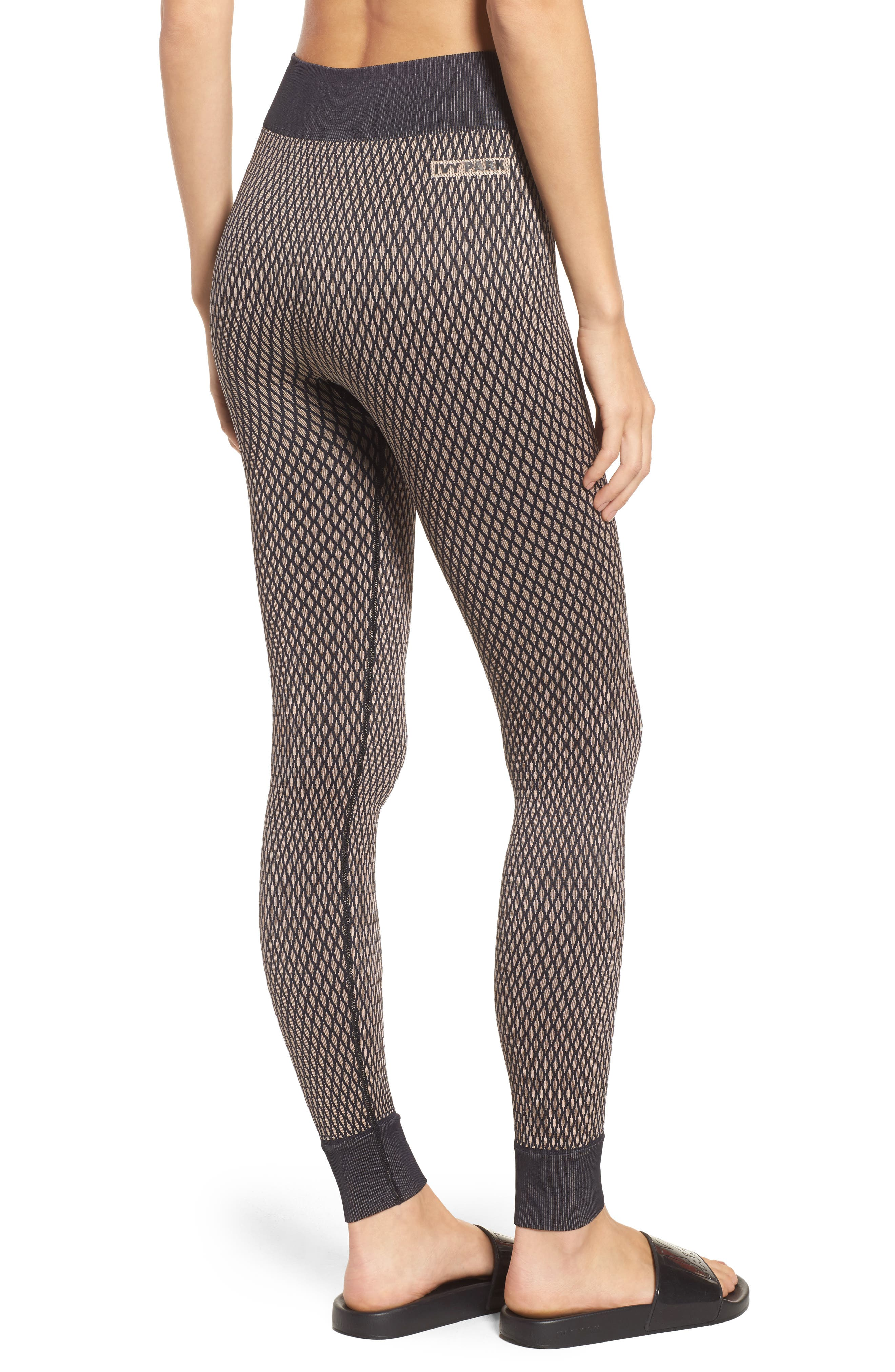 Alternate Image 2  - IVY PARK® Fishnet Seamless Leggings