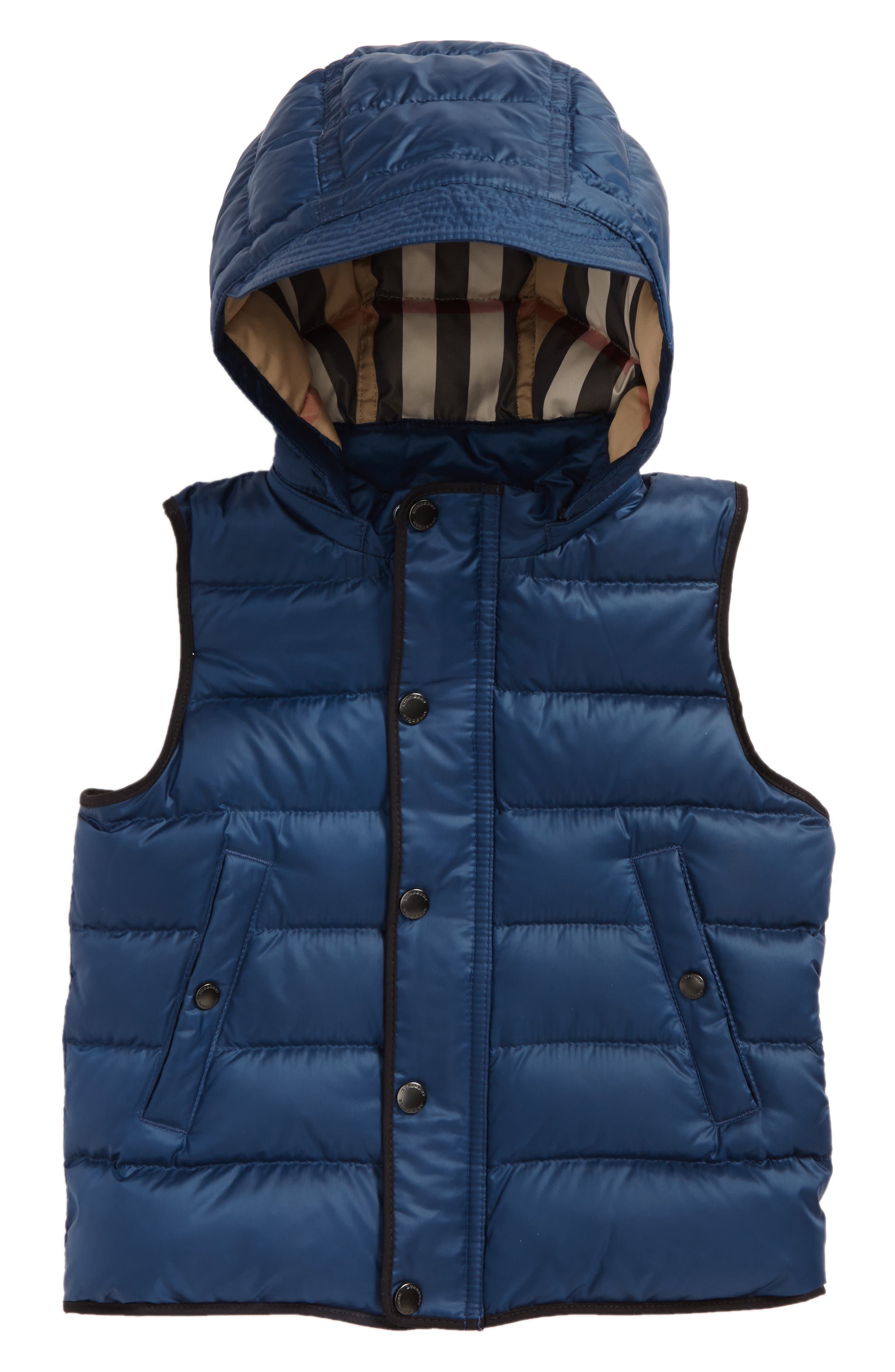 Carlton Quilted Down Vest,                         Main,                         color, Ink Blue