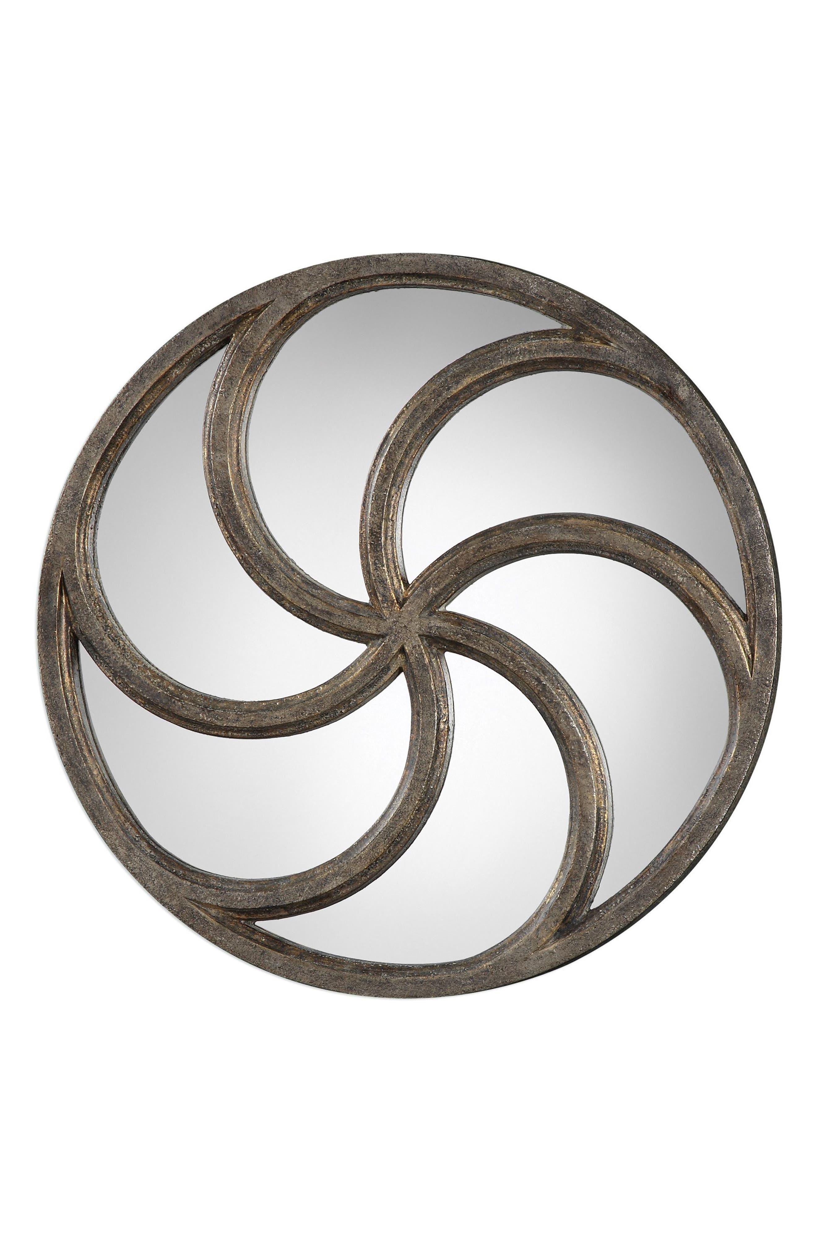 Spiralis Wall Mirror,                             Main thumbnail 1, color,                             Grey
