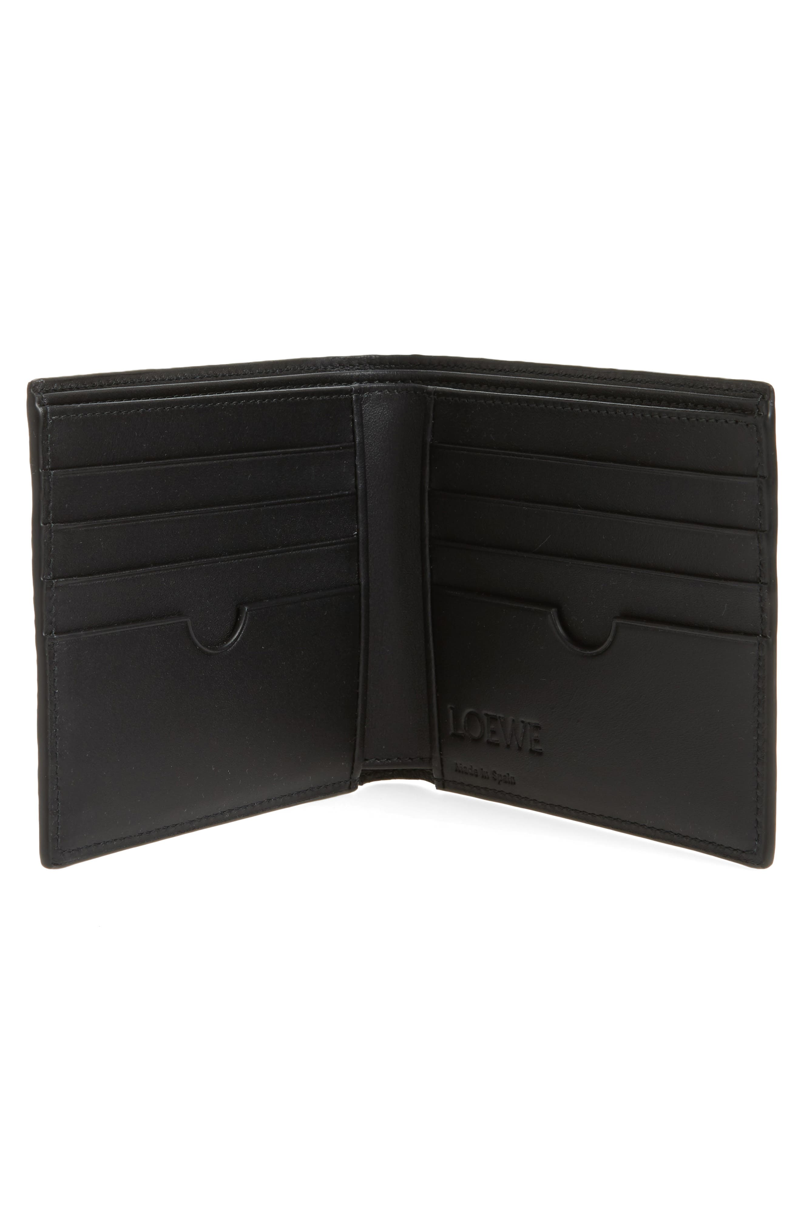 Bifold Leather Wallet,                             Alternate thumbnail 2, color,                             Marine