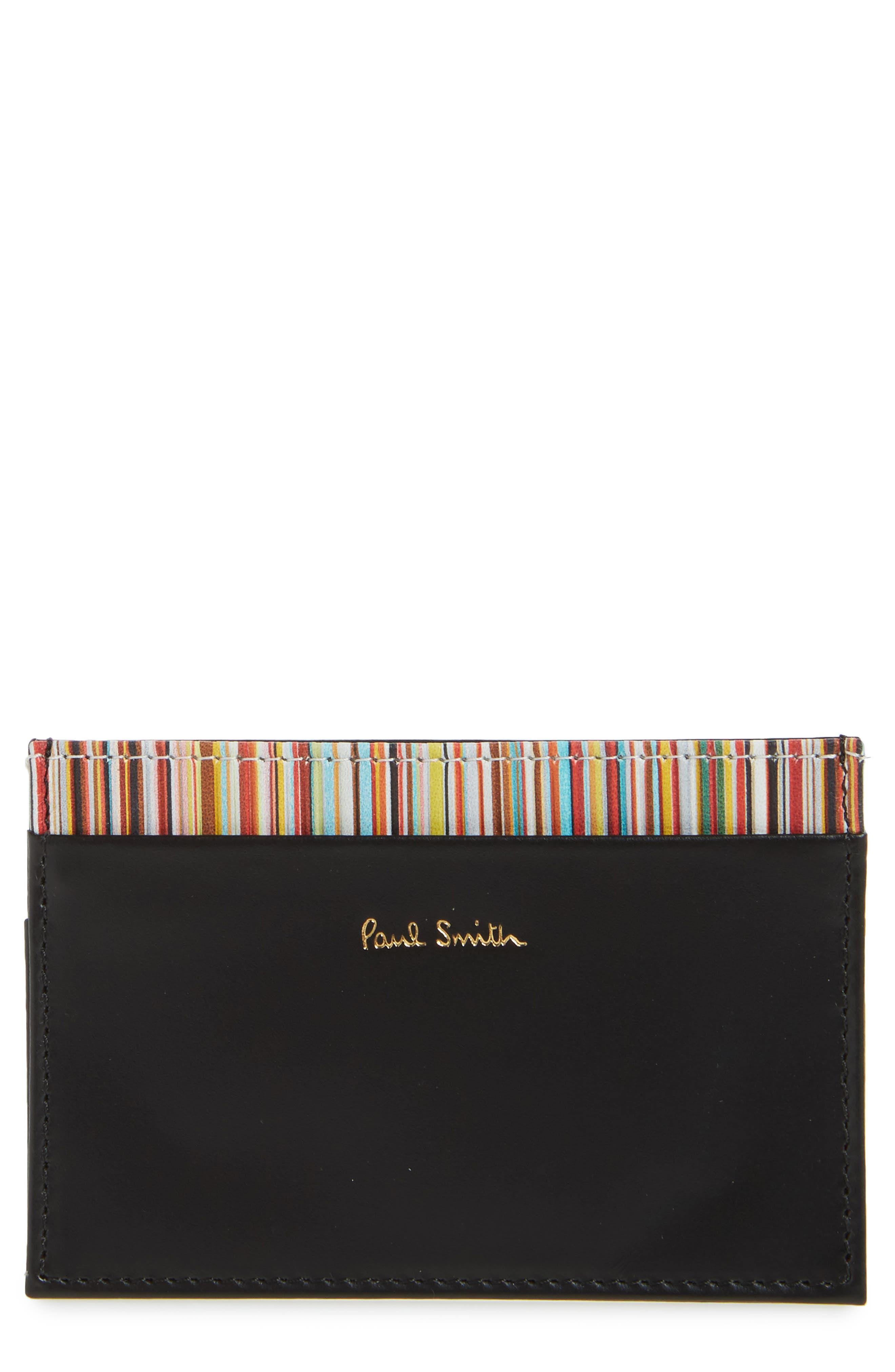 Multistripe Card Case,                         Main,                         color, Black