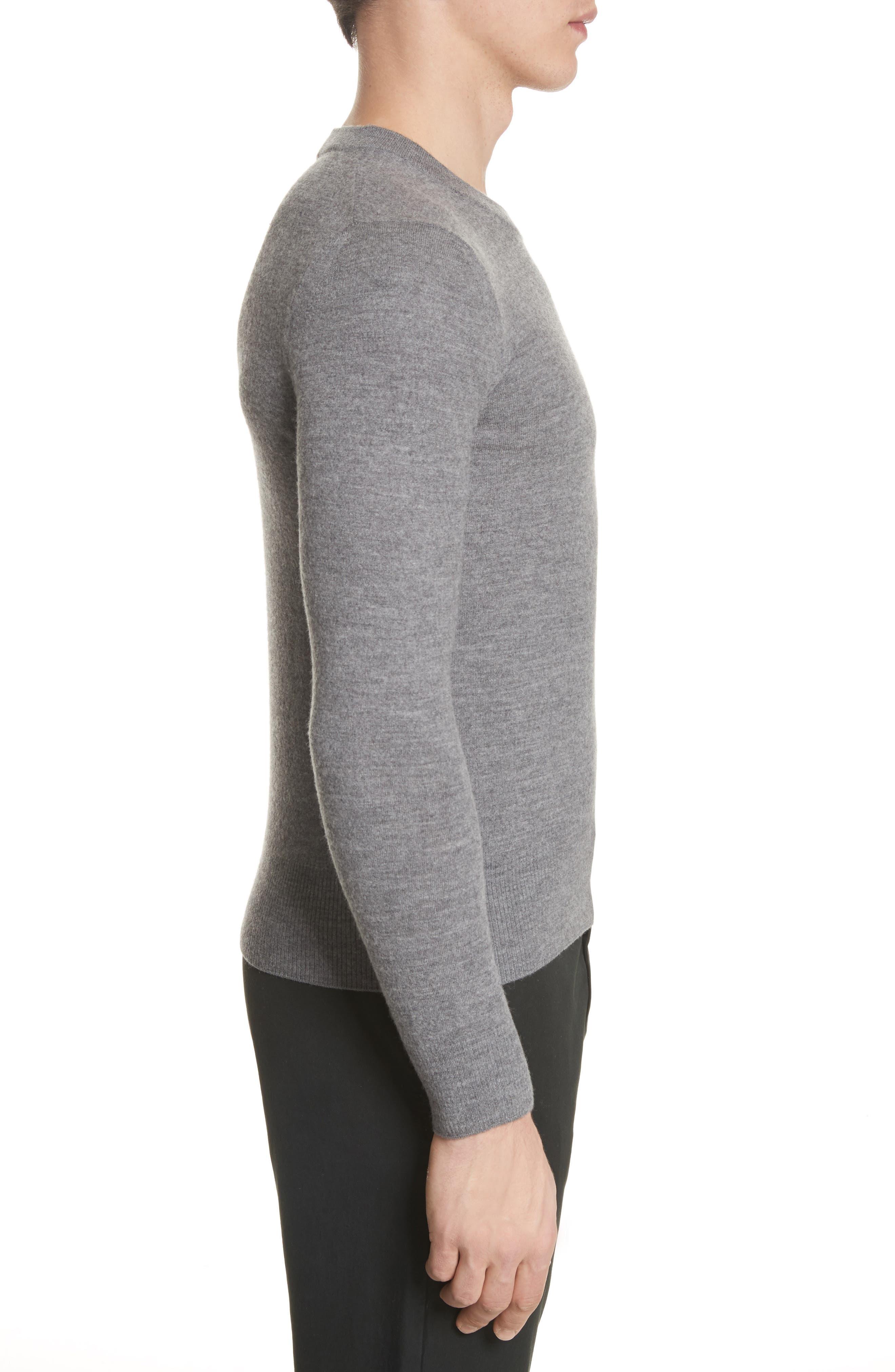 Nalon Wool Sweater,                             Alternate thumbnail 3, color,                             Grey Melange