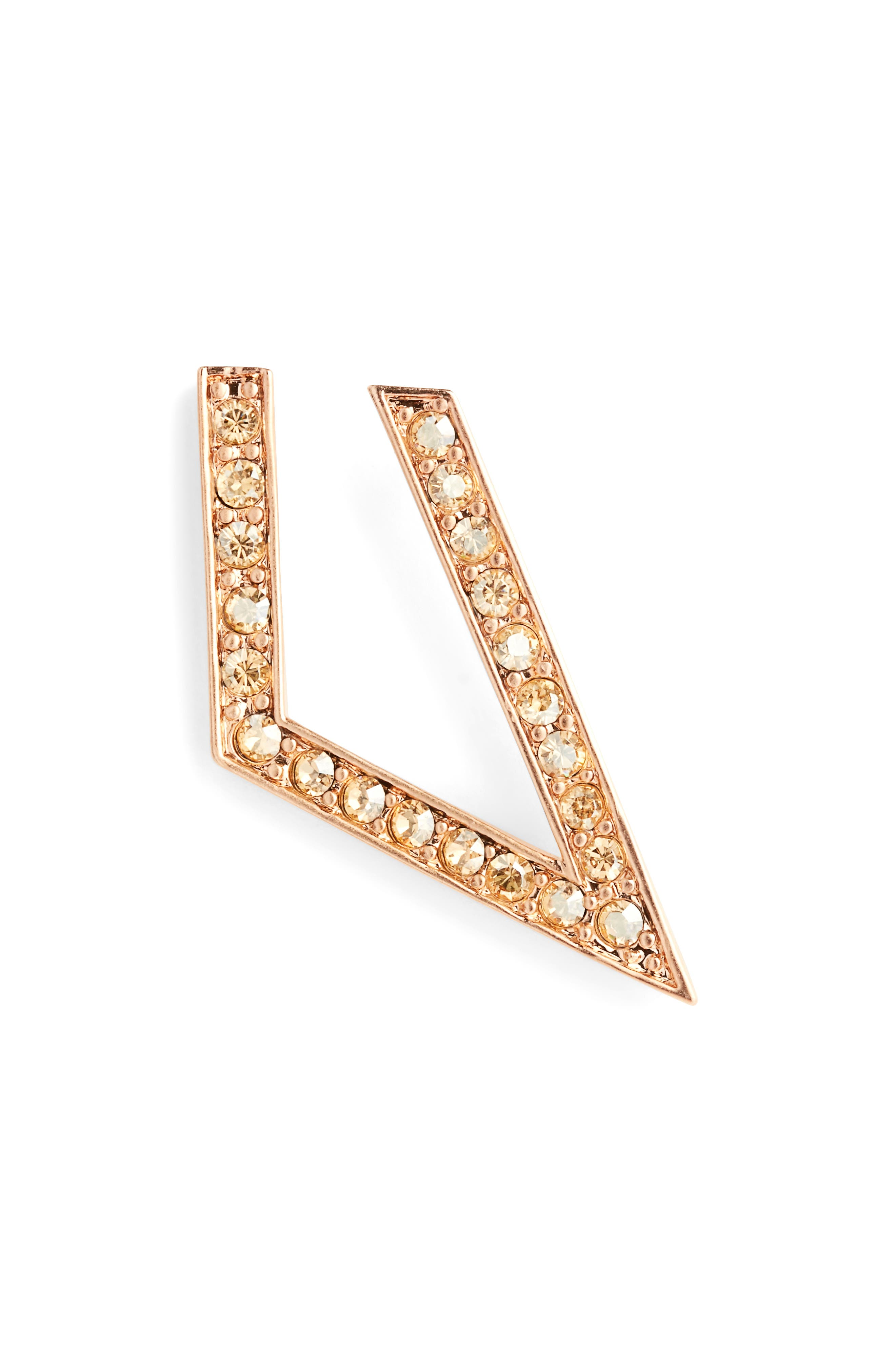 Main Image - St. John Collection Swarovski Crystal Angular Hoop Earrings