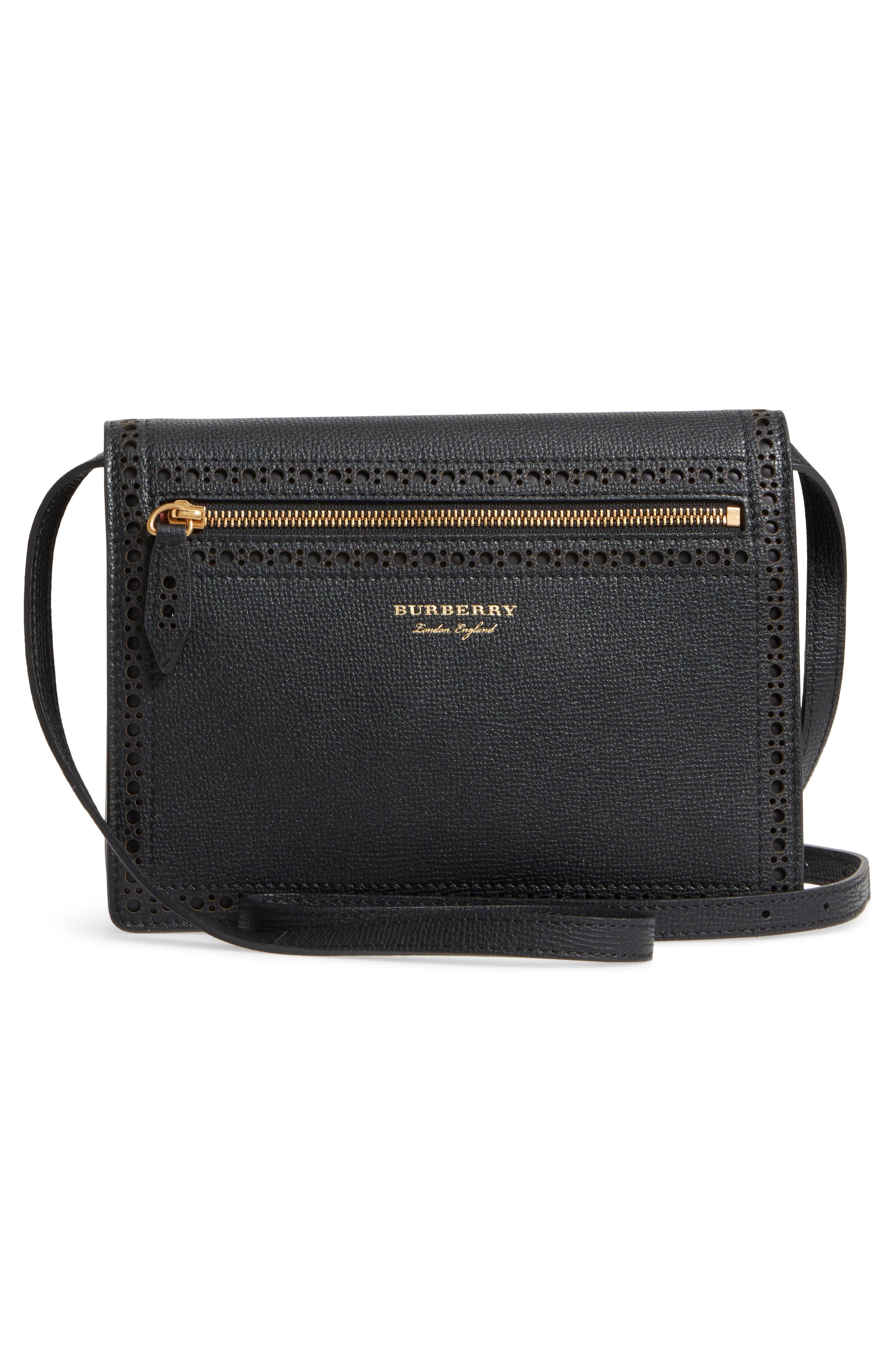 Macken Fringe Leather Crossbody Bag,                             Alternate thumbnail 3, color,                             Black