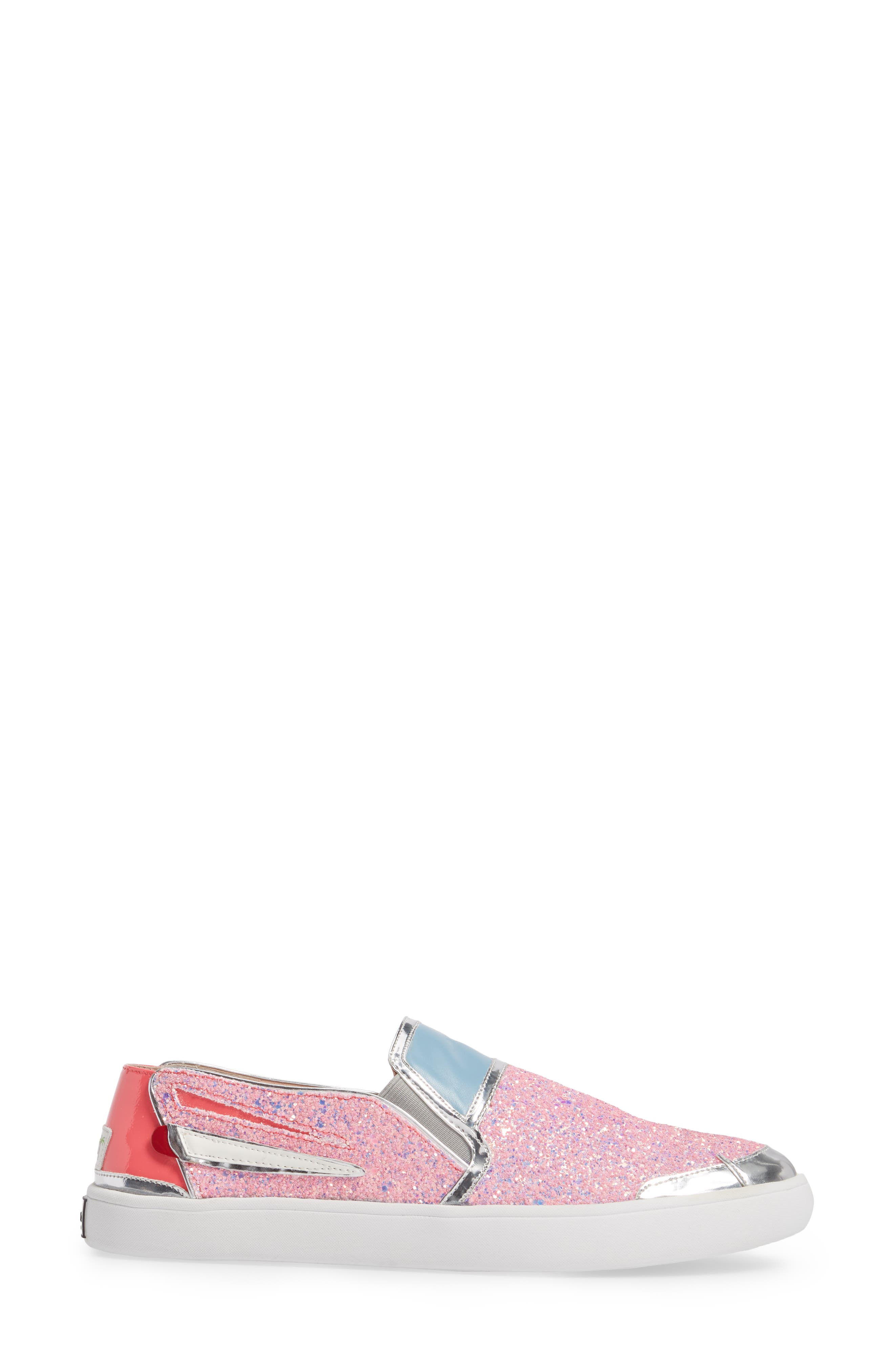 Lotus Slip-On Sneaker,                             Alternate thumbnail 3, color,                             Pink