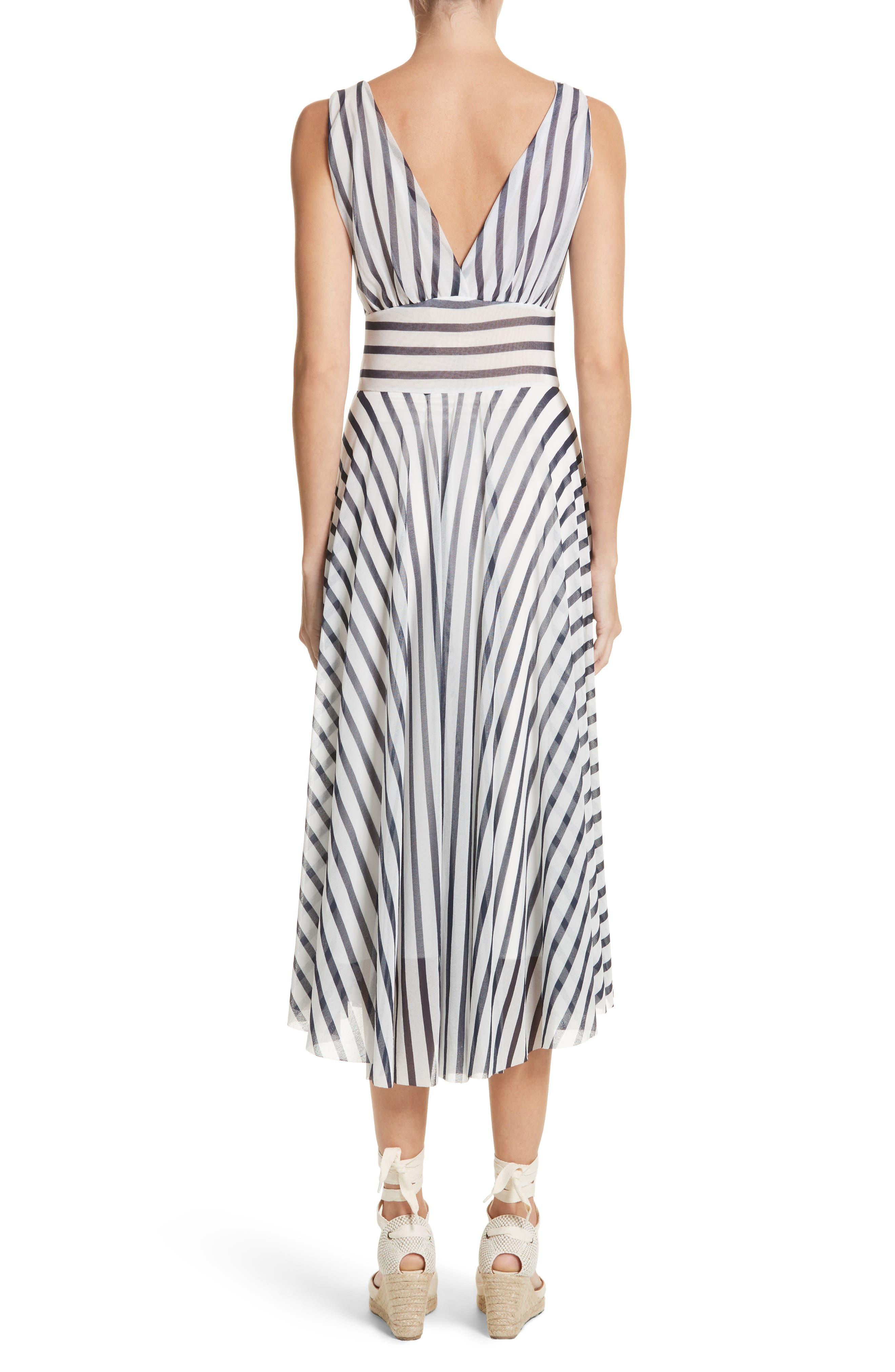 Multistripe Midi Dress,                             Alternate thumbnail 2, color,                             Cocco