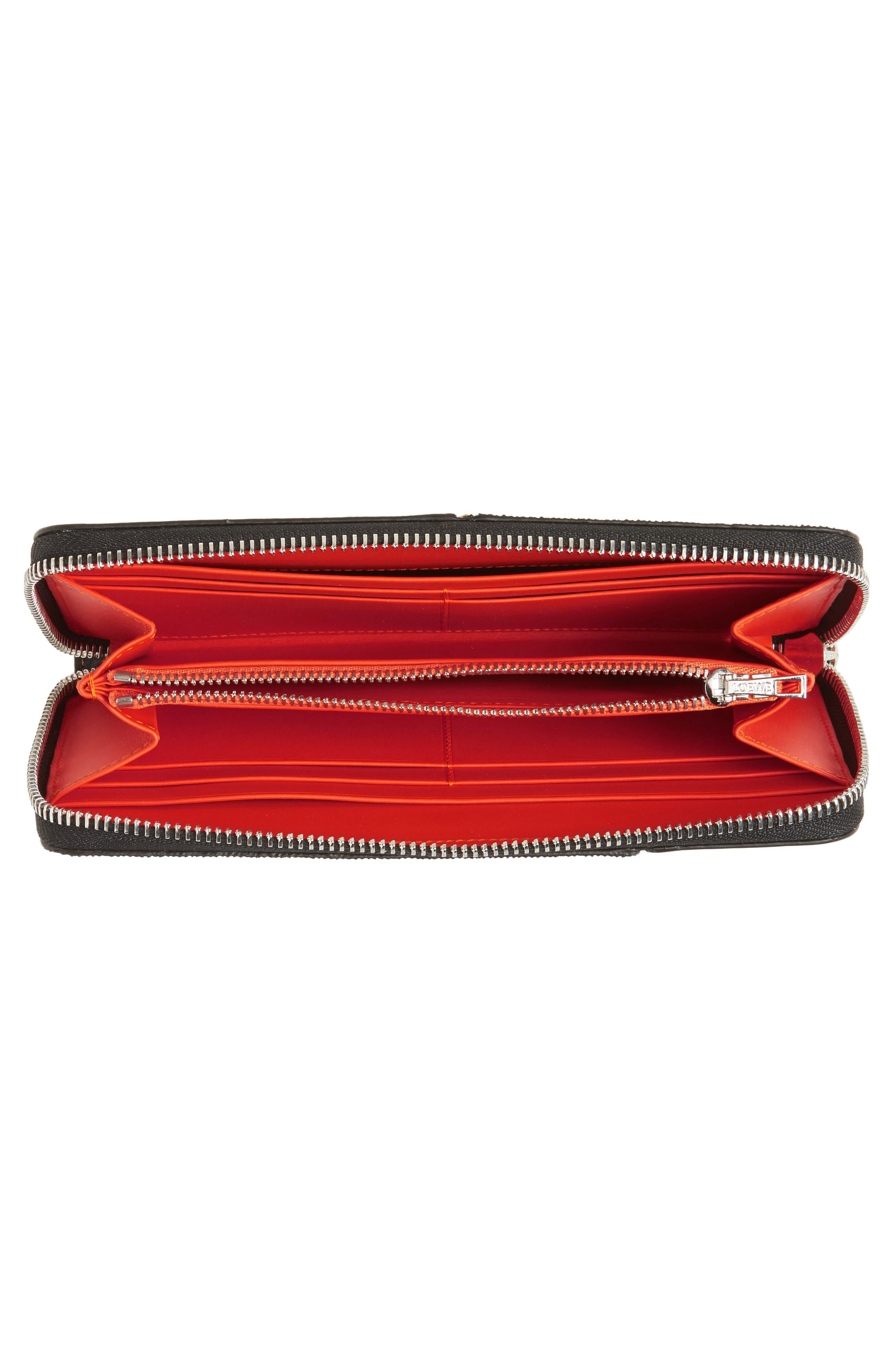 Alternate Image 4  - Loewe Denim Puzzle Zip Around Leather Wallet