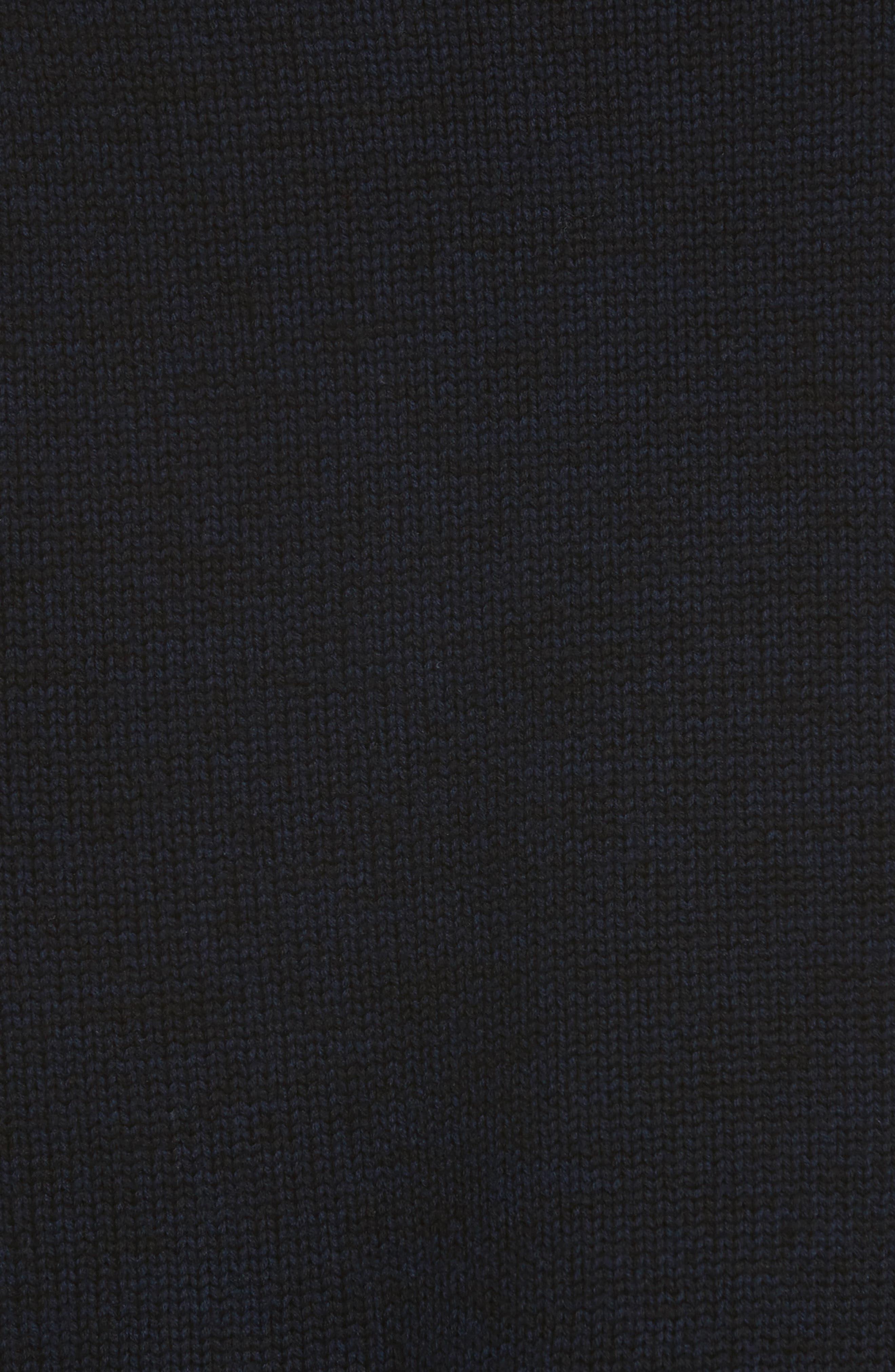 Hattie Crewneck Merino Wool Sweater,                             Alternate thumbnail 5, color,                             Navy