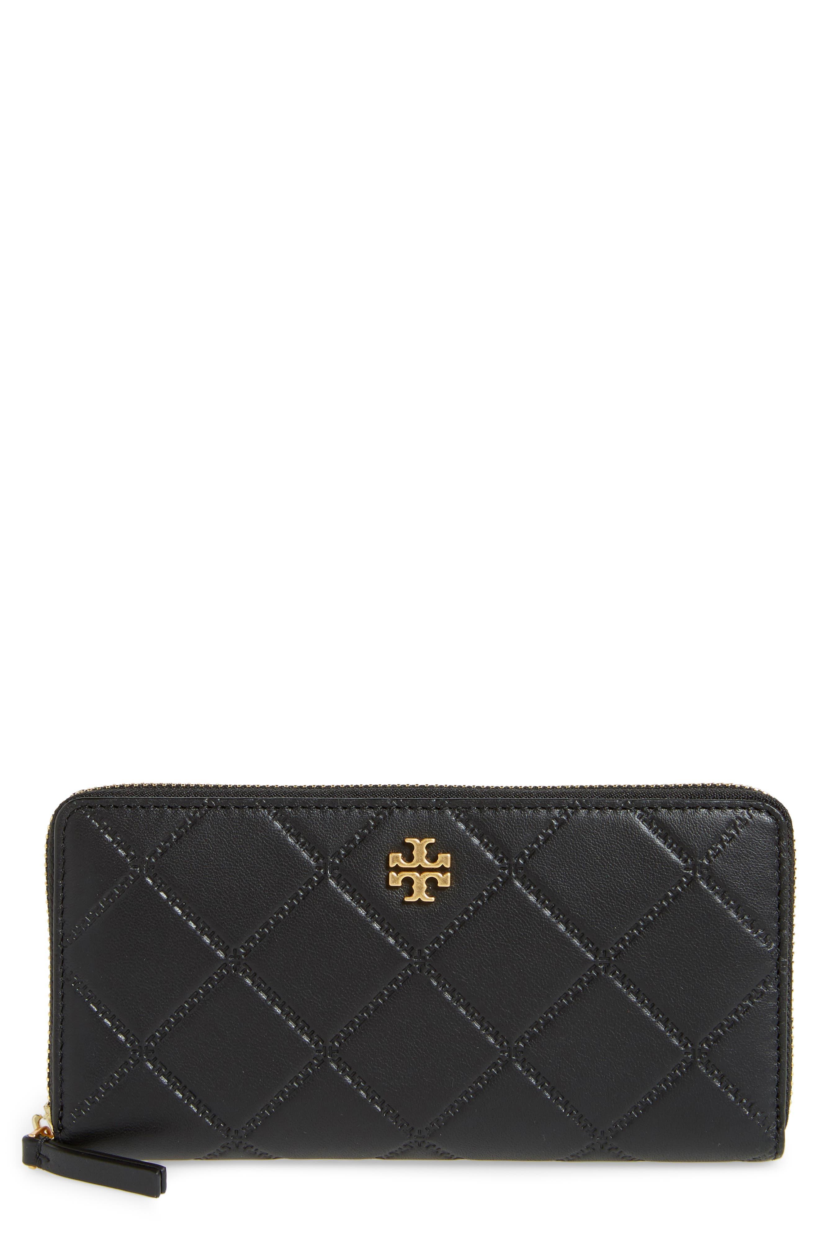Georgia Zip Continental Wallet,                             Main thumbnail 1, color,                             Black