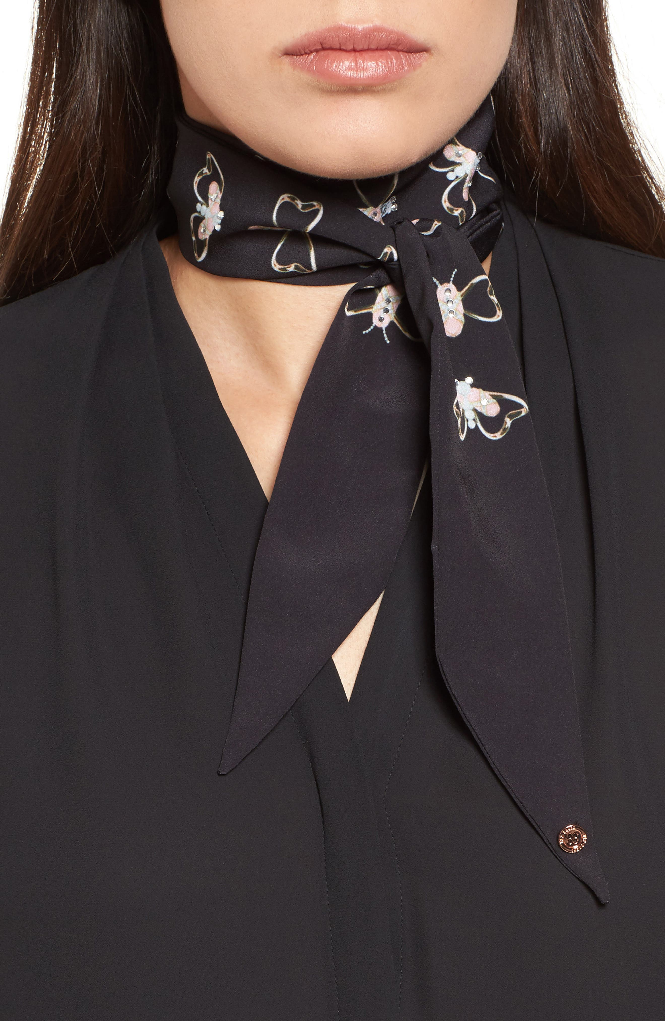 Ted Baker London Queen Bee Small Skinny Scarf