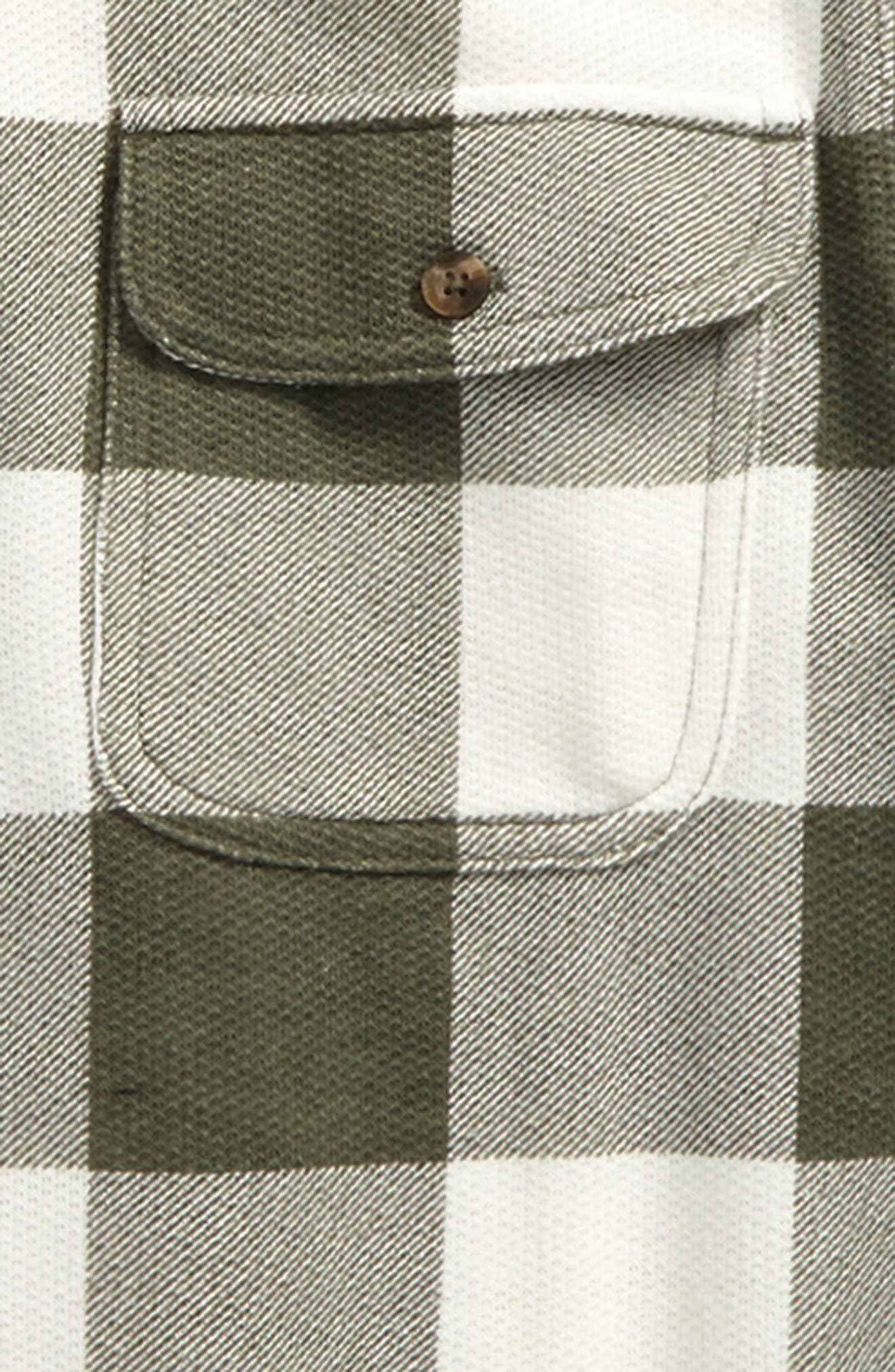 Woven Plaid Shirt,                             Alternate thumbnail 2, color,                             Olive Sarma- Ivory Check