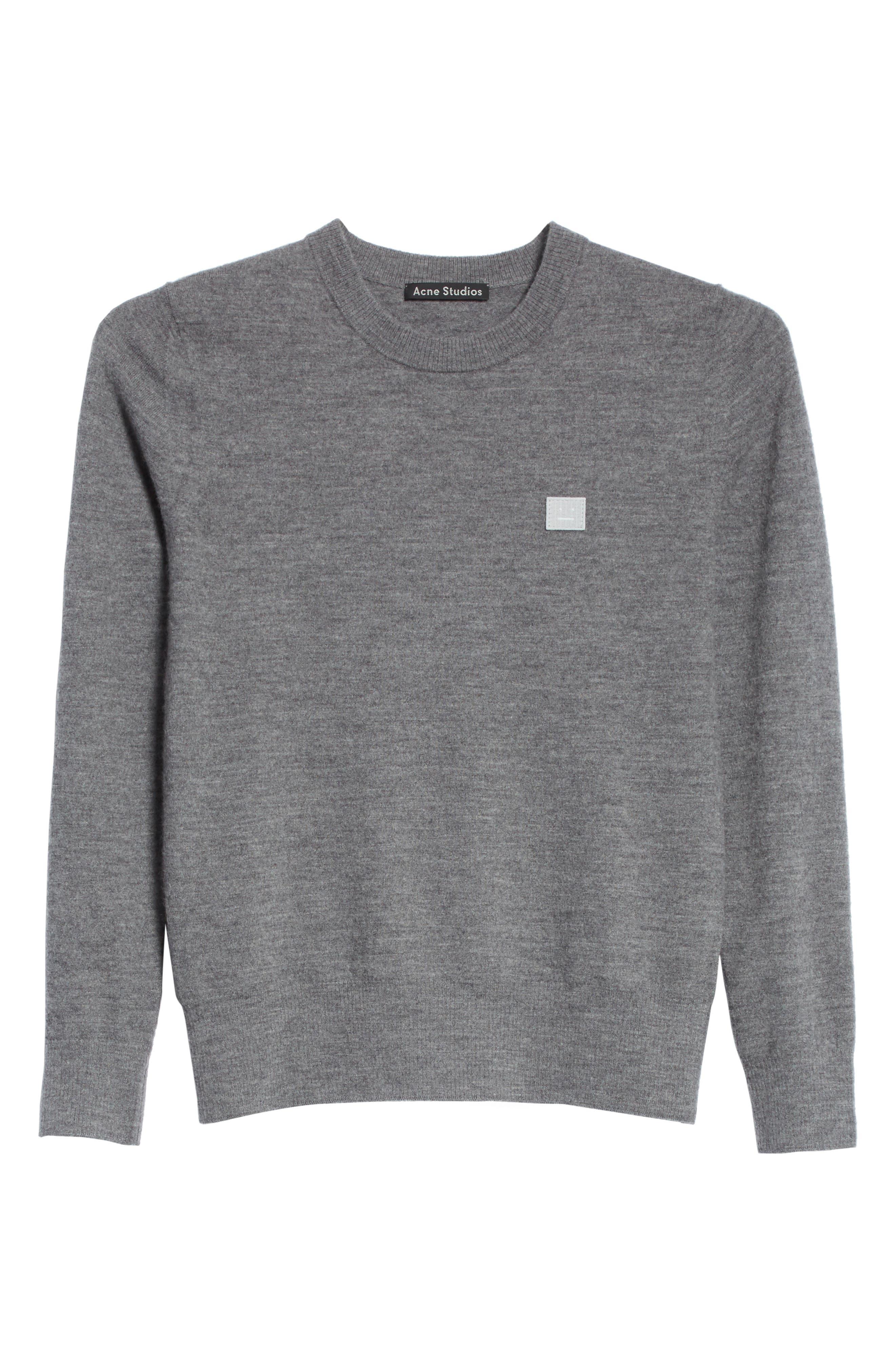 Nalon Wool Sweater,                             Alternate thumbnail 6, color,                             Grey Melange