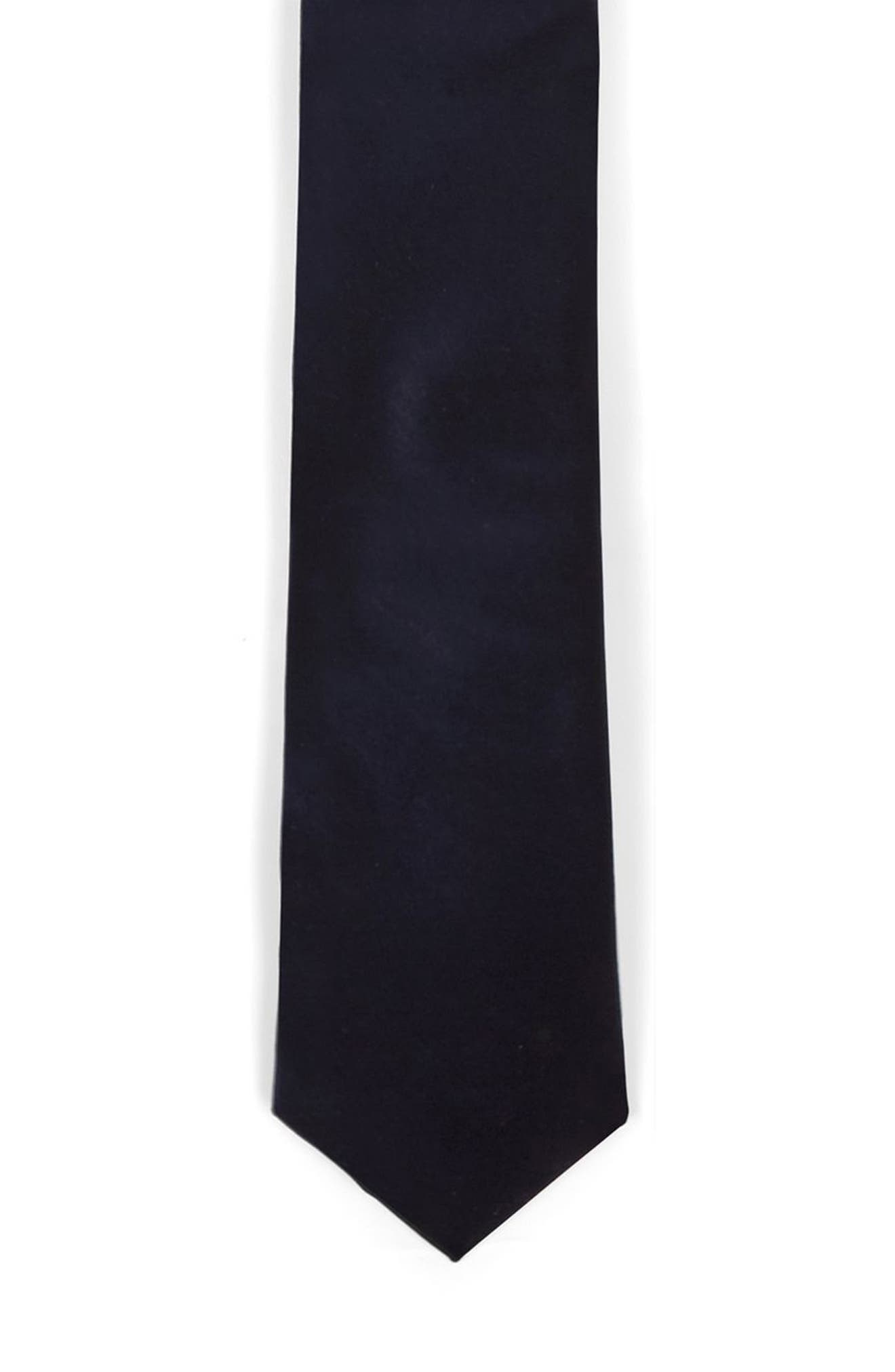Velvet Tie,                             Alternate thumbnail 2, color,                             Navy Blue