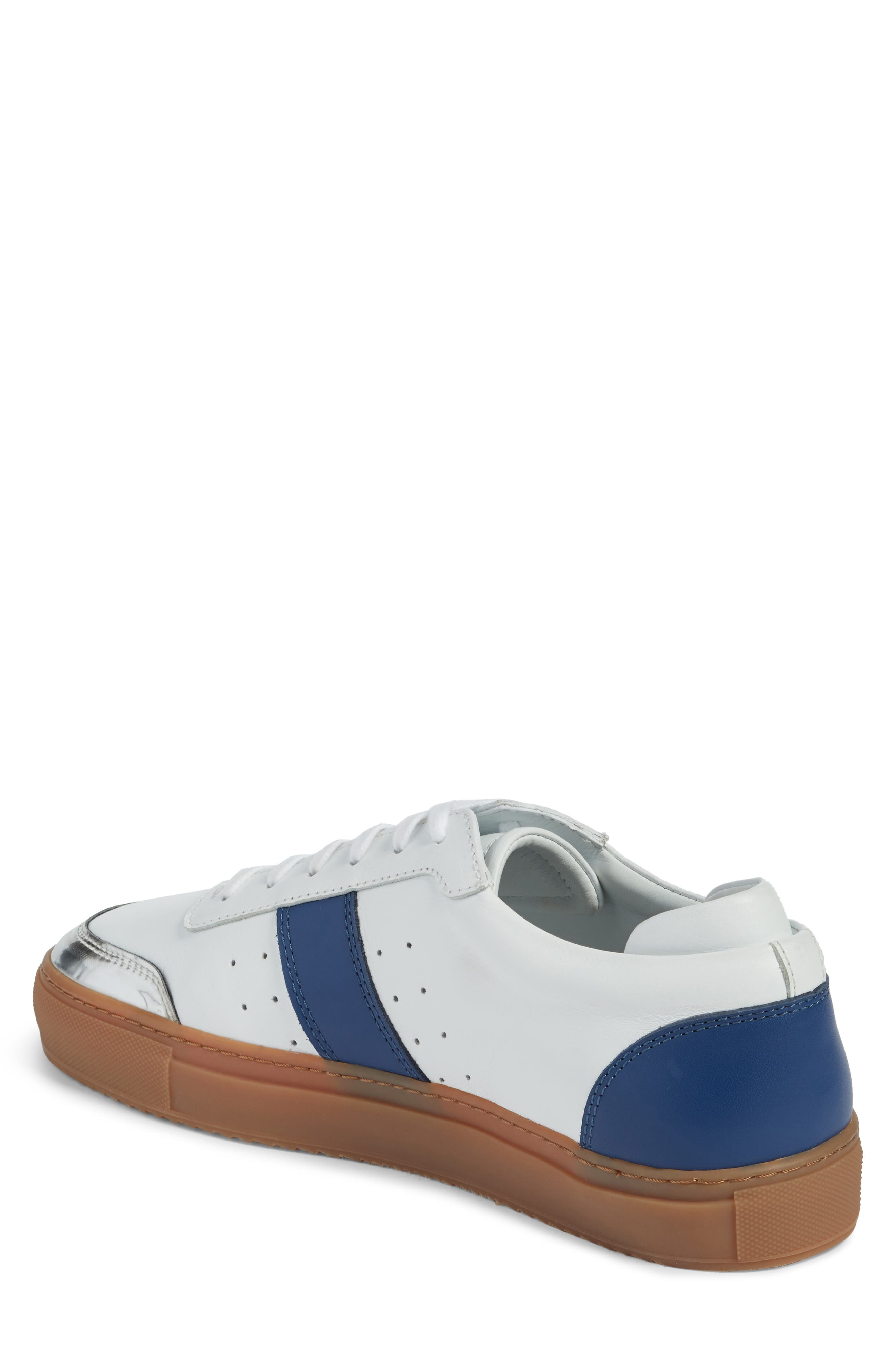 Dunk Sneaker,                             Alternate thumbnail 2, color,                             White/ Navy