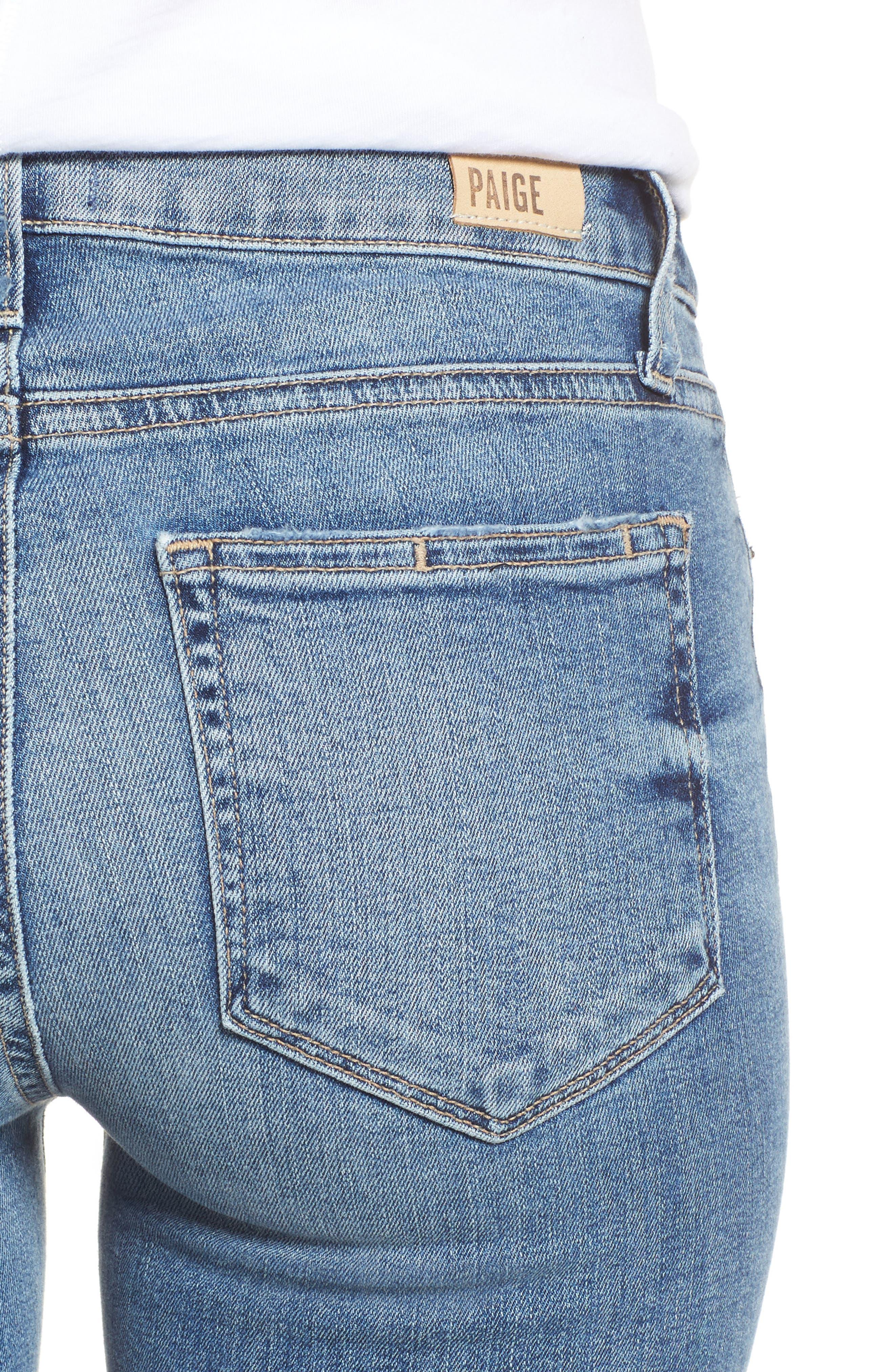 Transcend Vintage - Leggy Ultra Skinny Jeans,                             Alternate thumbnail 4, color,                             Rissy