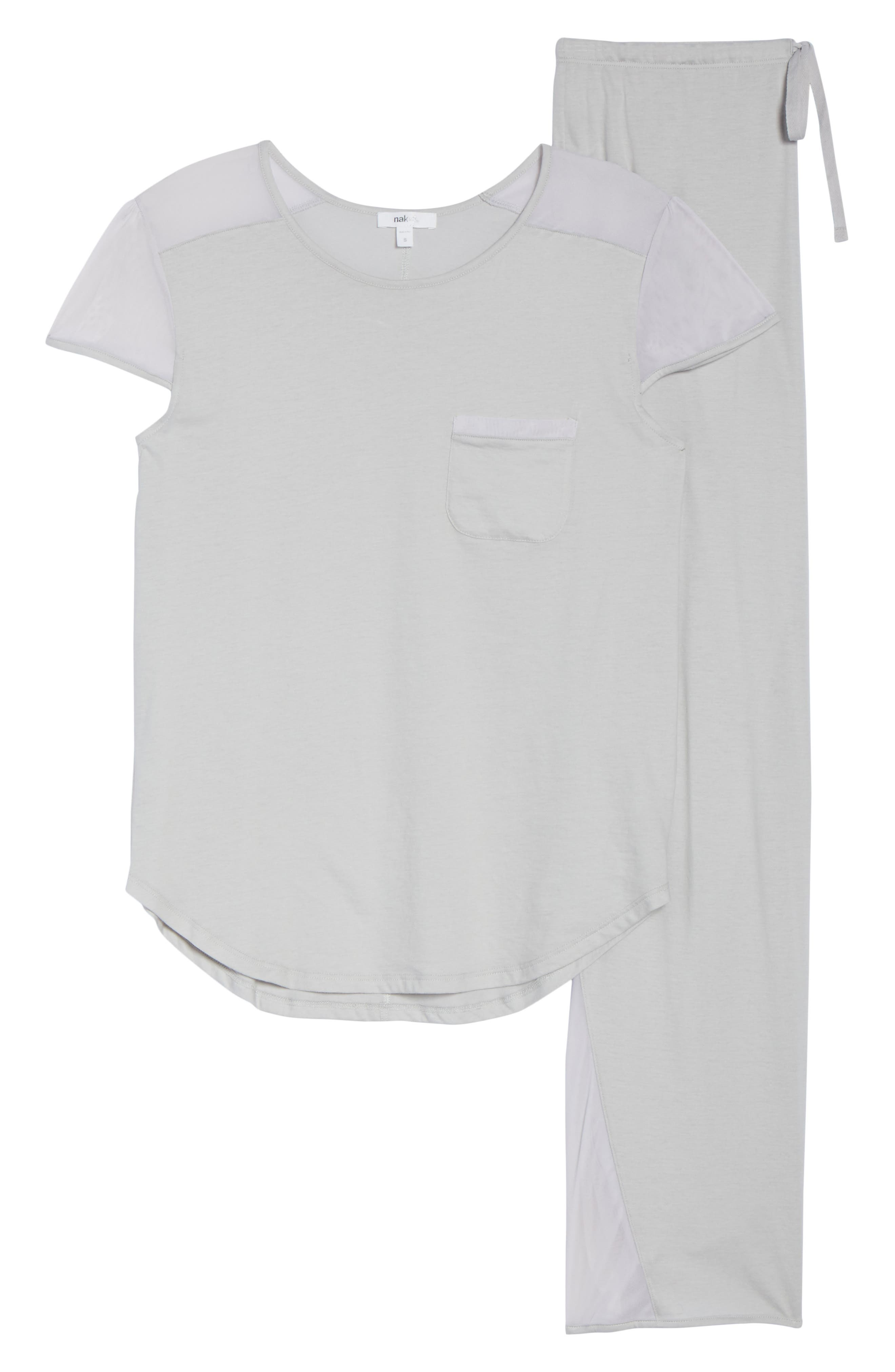 Cotton Pajamas,                             Alternate thumbnail 6, color,                             Soft Gray