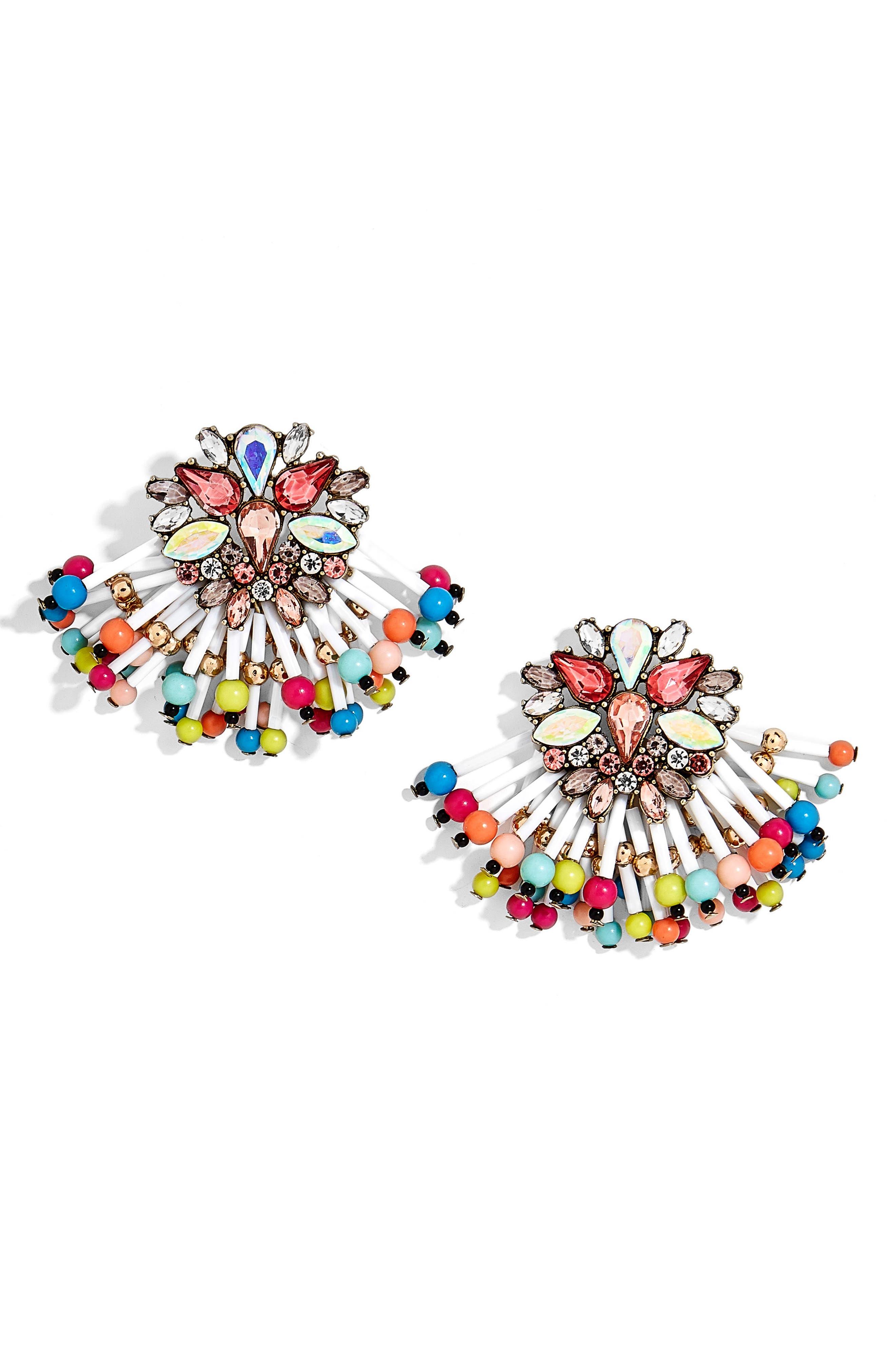 Enchantress Statement Earrings,                         Main,                         color, Rainbow