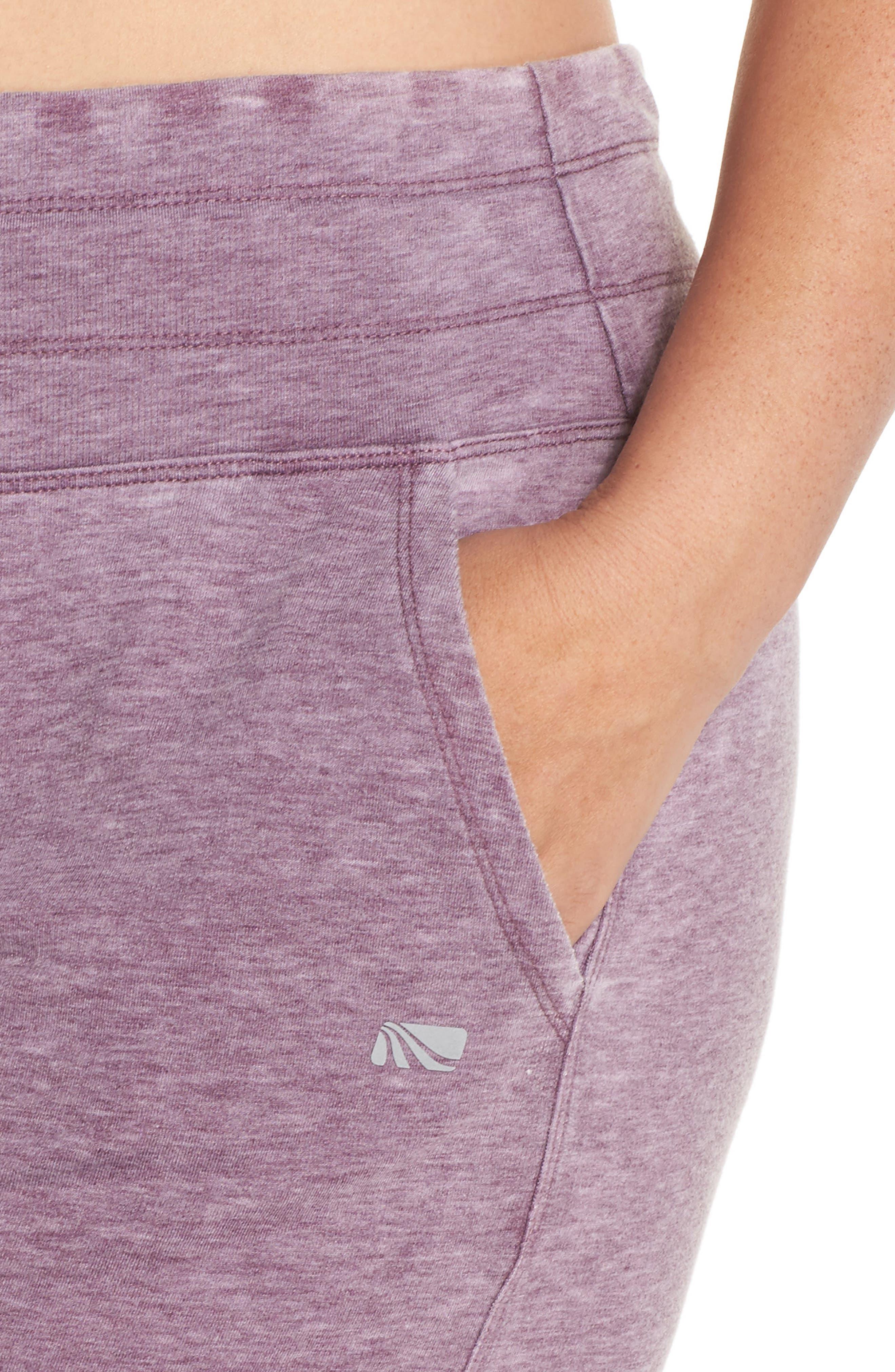 Kayle Crop Sweatpants,                             Alternate thumbnail 4, color,                             Aubergine Glow