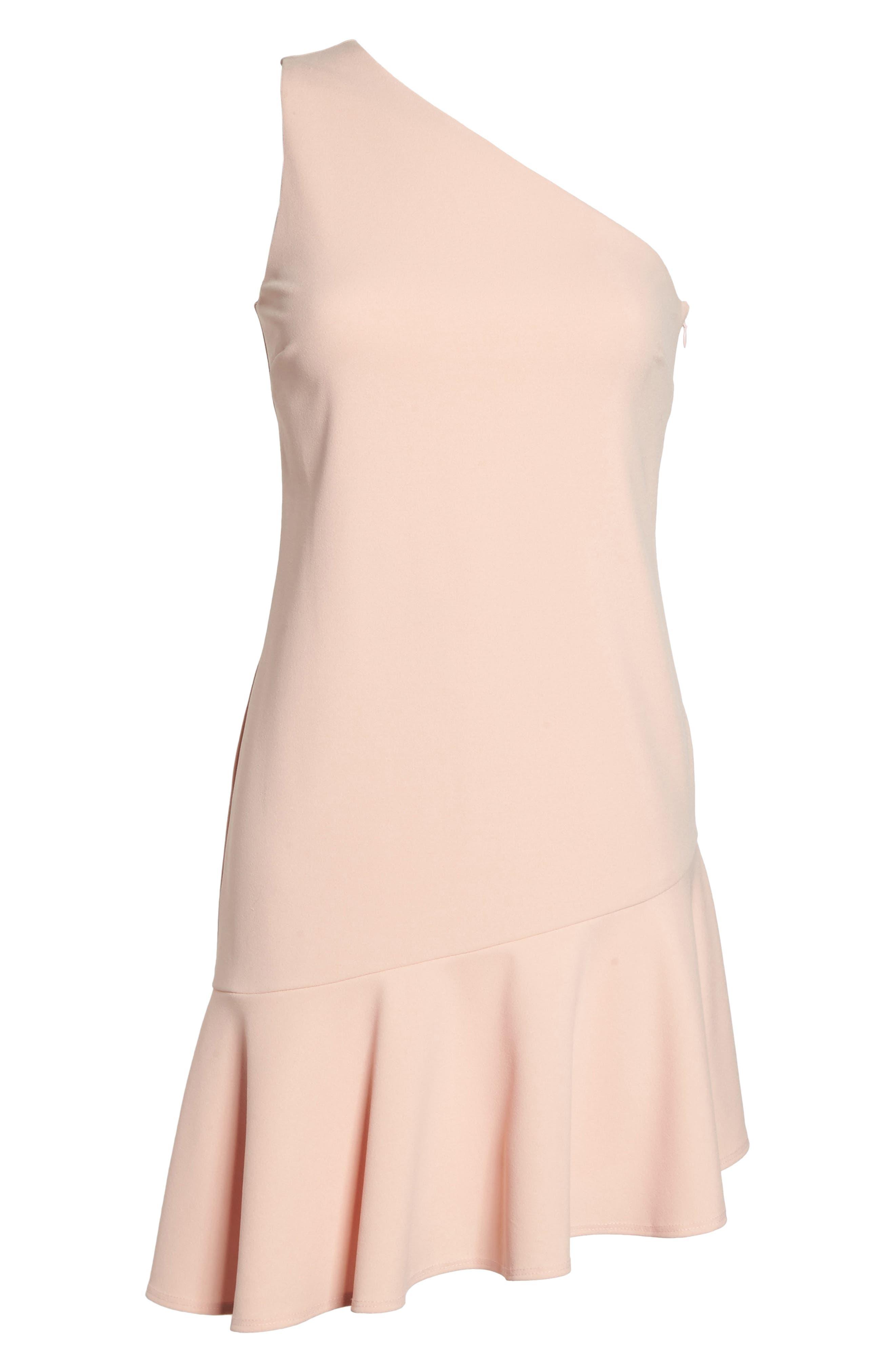 Alternate Image 6  - Charles Henry One-Shoulder Ruffle Dress