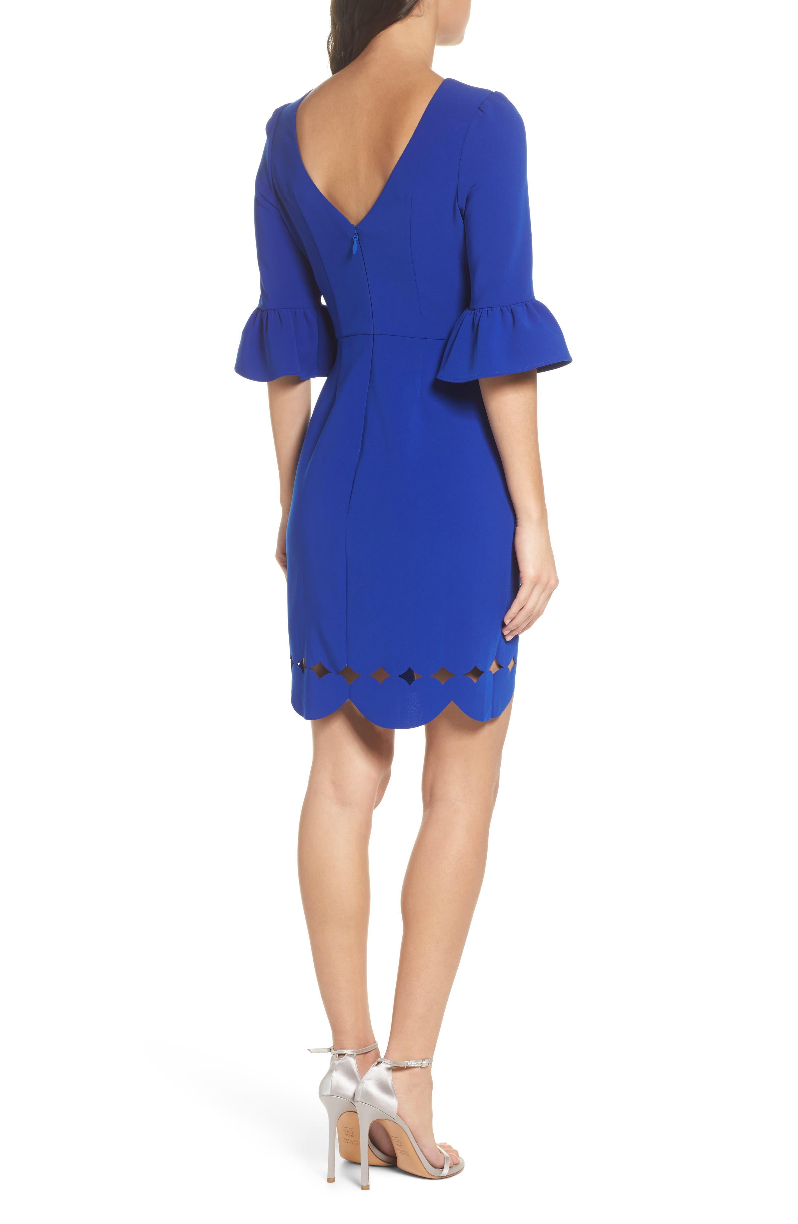 Blair Sheath Dress,                             Alternate thumbnail 2, color,                             Cobalt