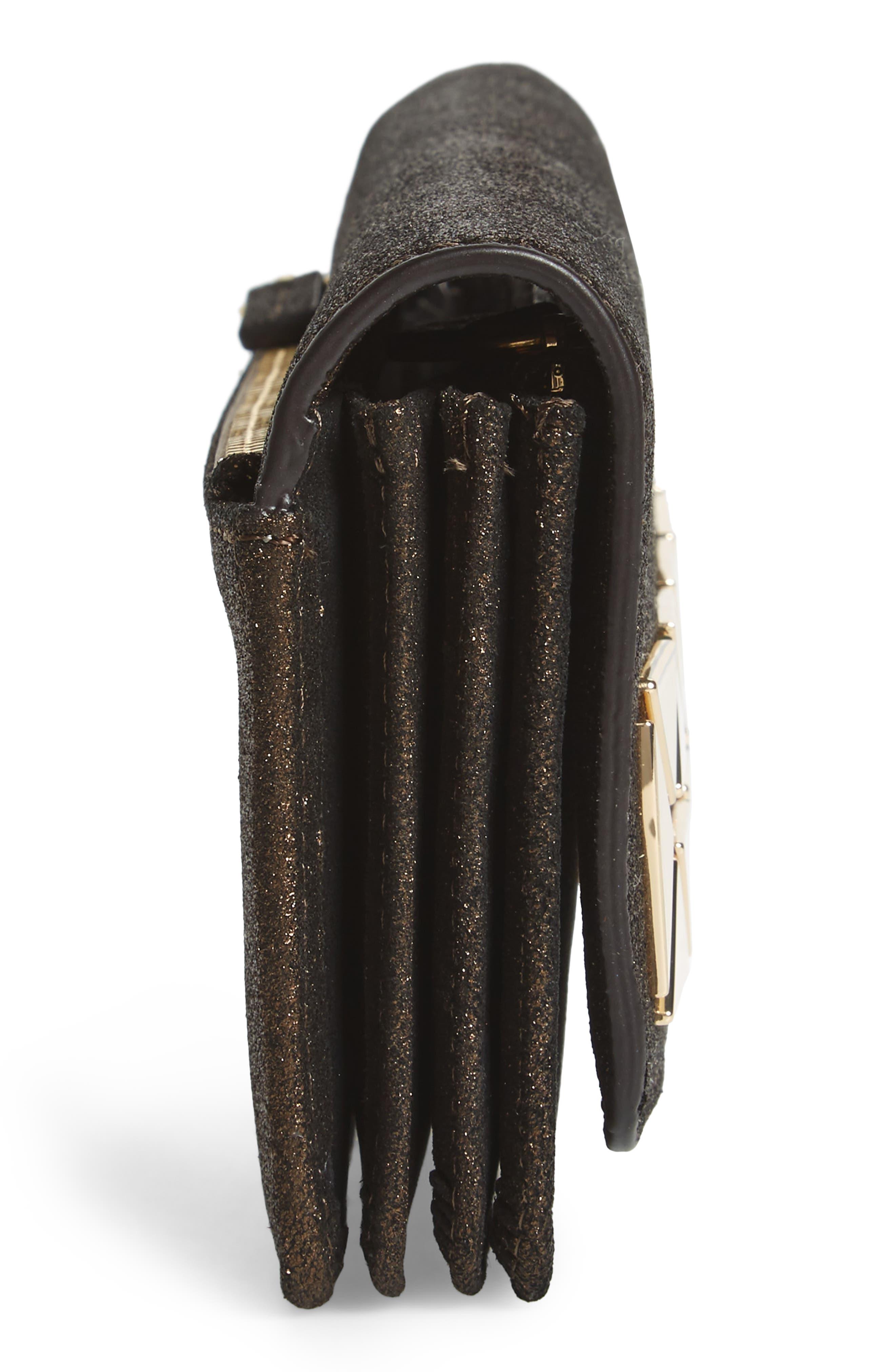 Fit Studded Leather Wallet,                             Alternate thumbnail 5, color,                             Antique Bronze