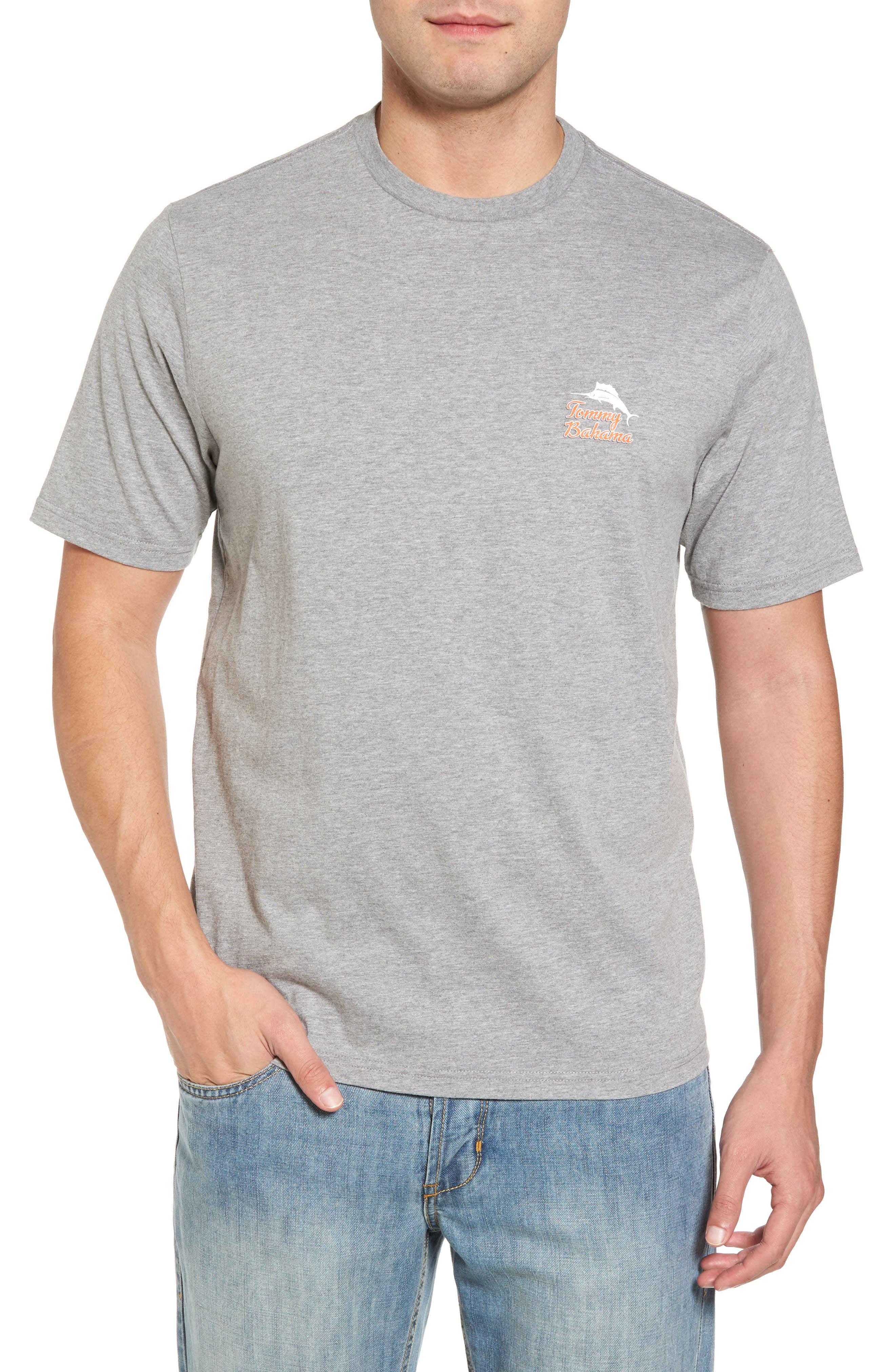 Morning Anchor Graphic T-Shirt,                         Main,                         color, Grey Heather