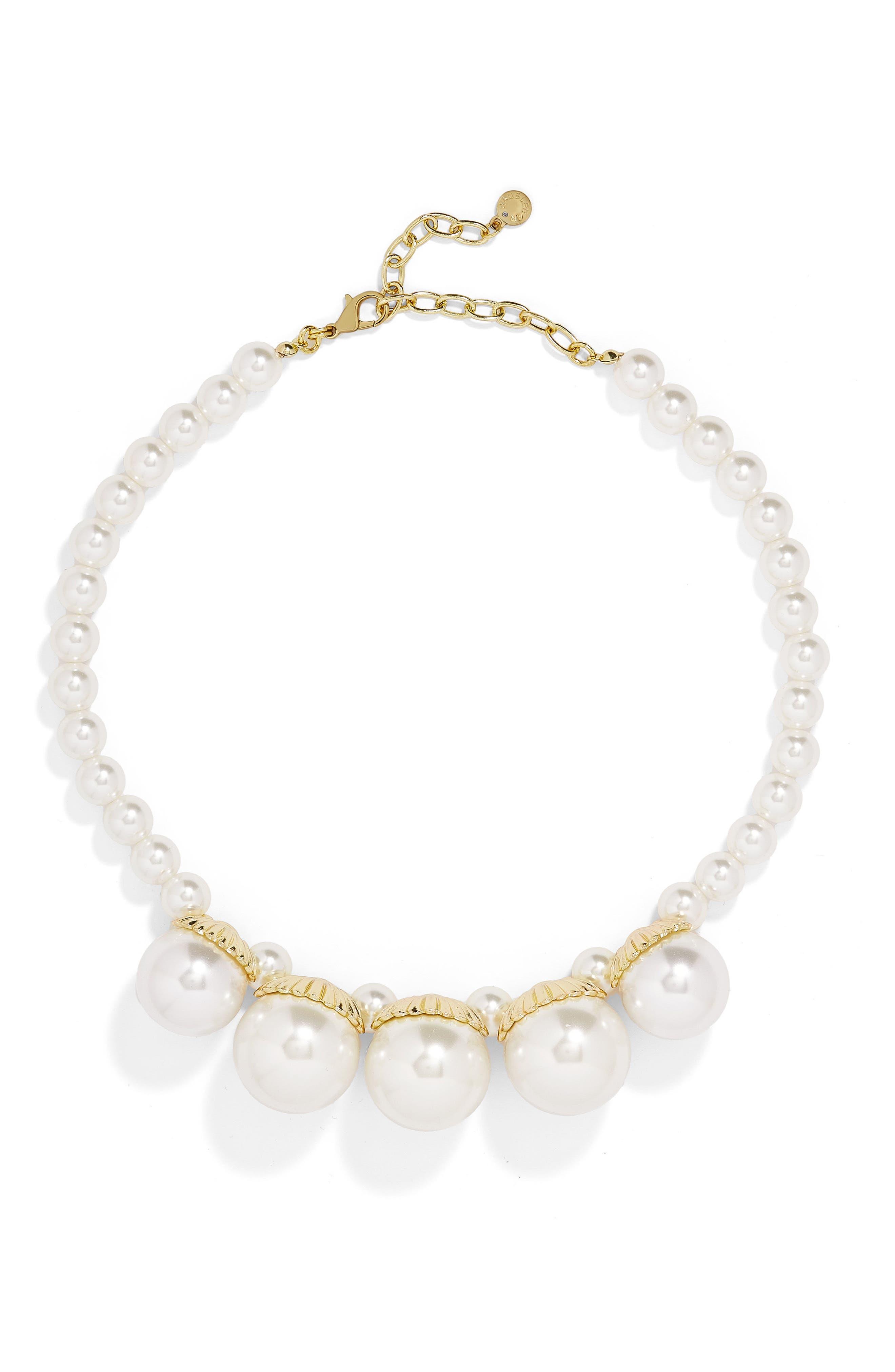 Aurelia Imitation Pearl Statement Necklace,                         Main,                         color, Pearl