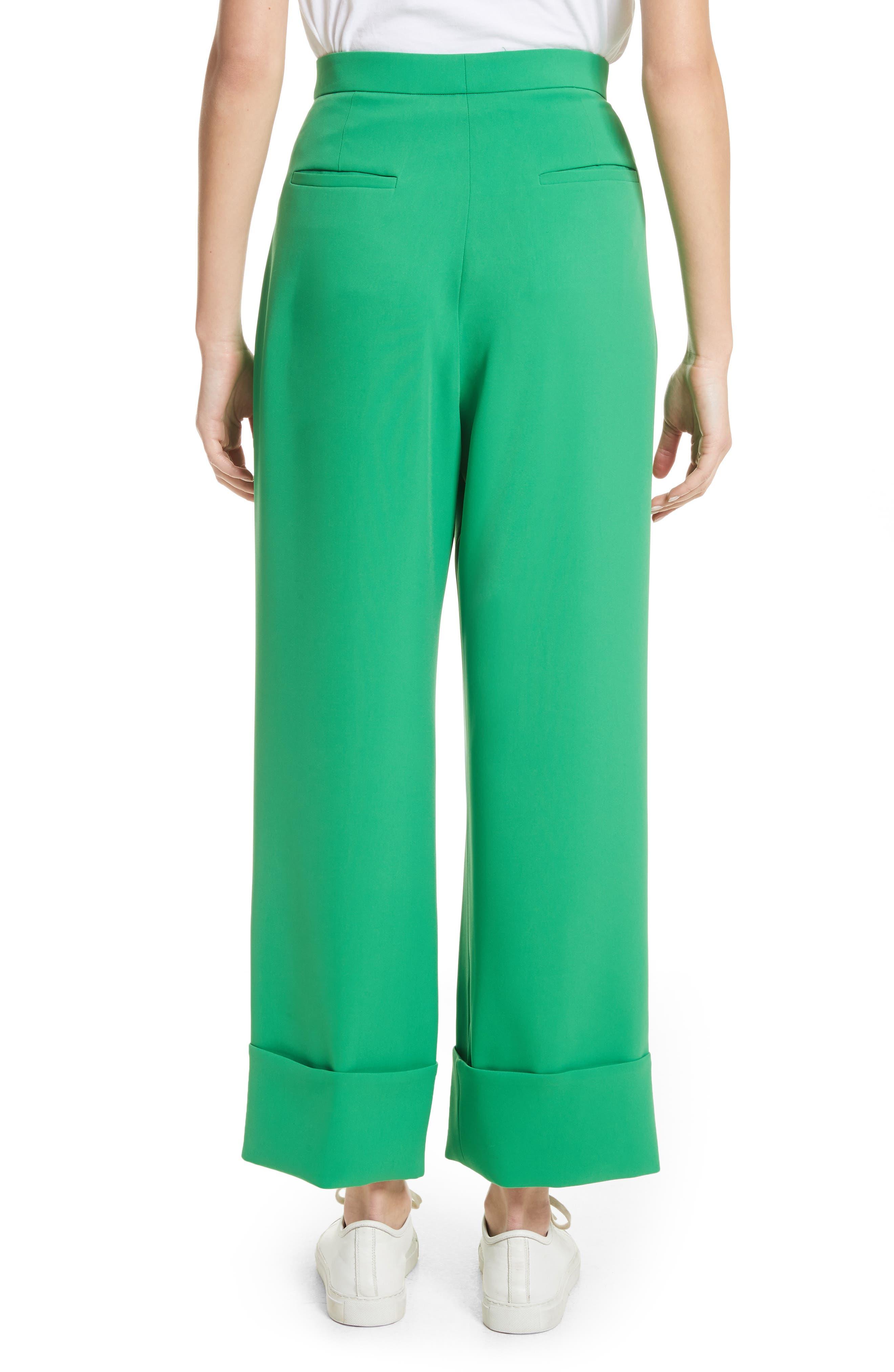 High Waist Crop Pants,                             Alternate thumbnail 2, color,                             Green