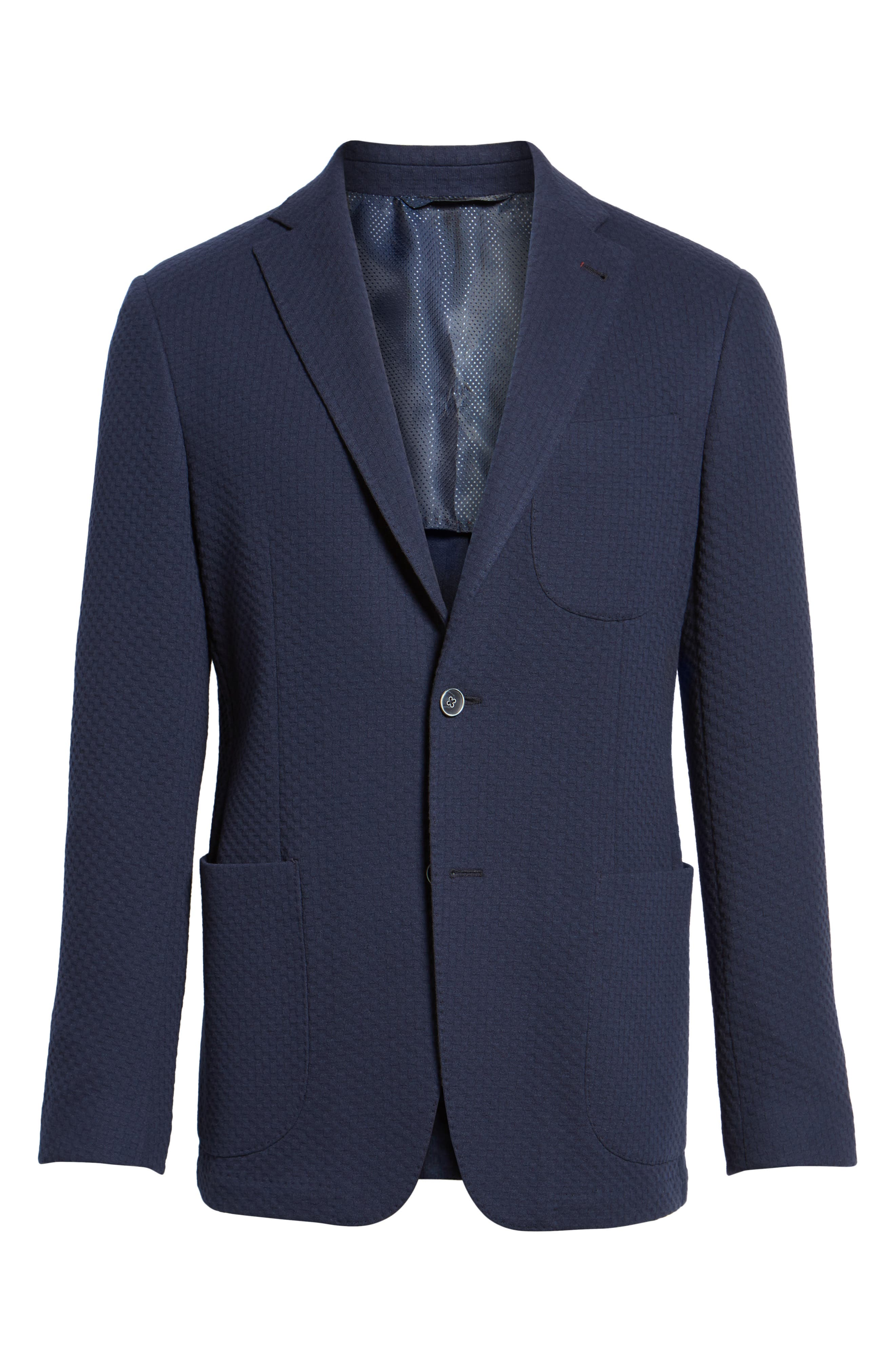 Textured Blazer,                             Alternate thumbnail 6, color,                             Navy