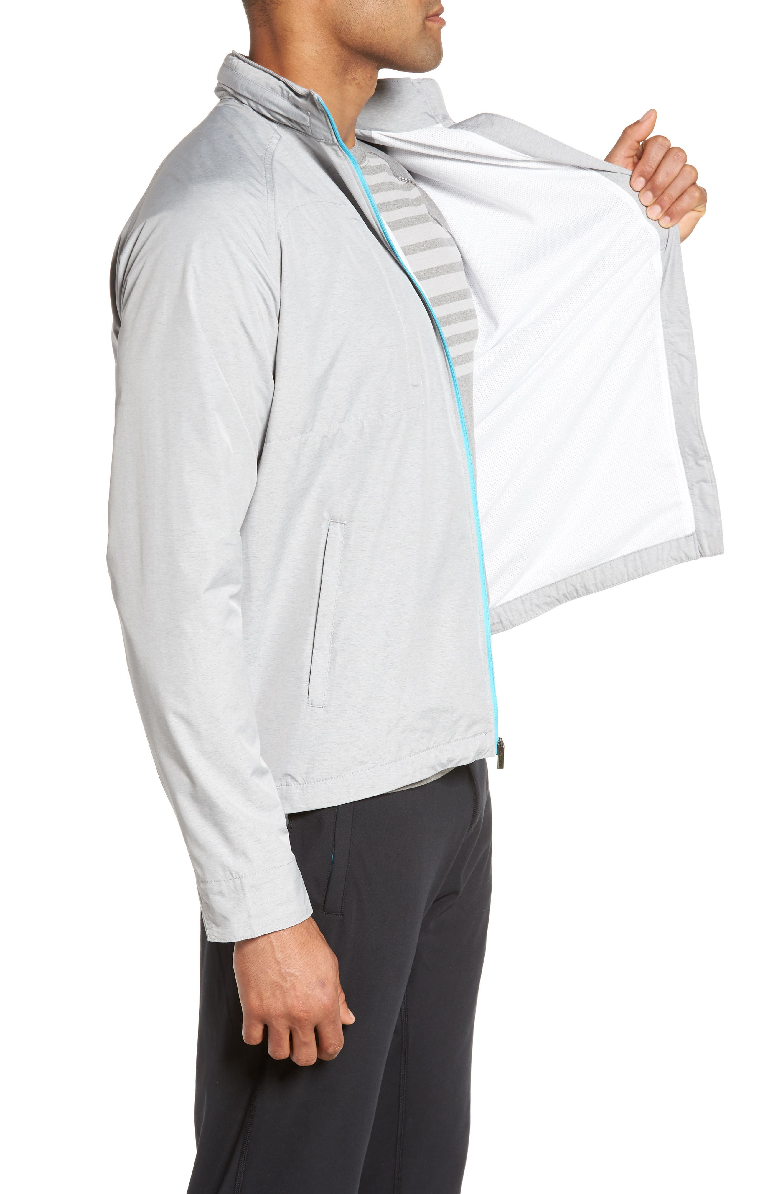 Nagano Windbreaker Jacket,                             Alternate thumbnail 3, color,                             British Grey