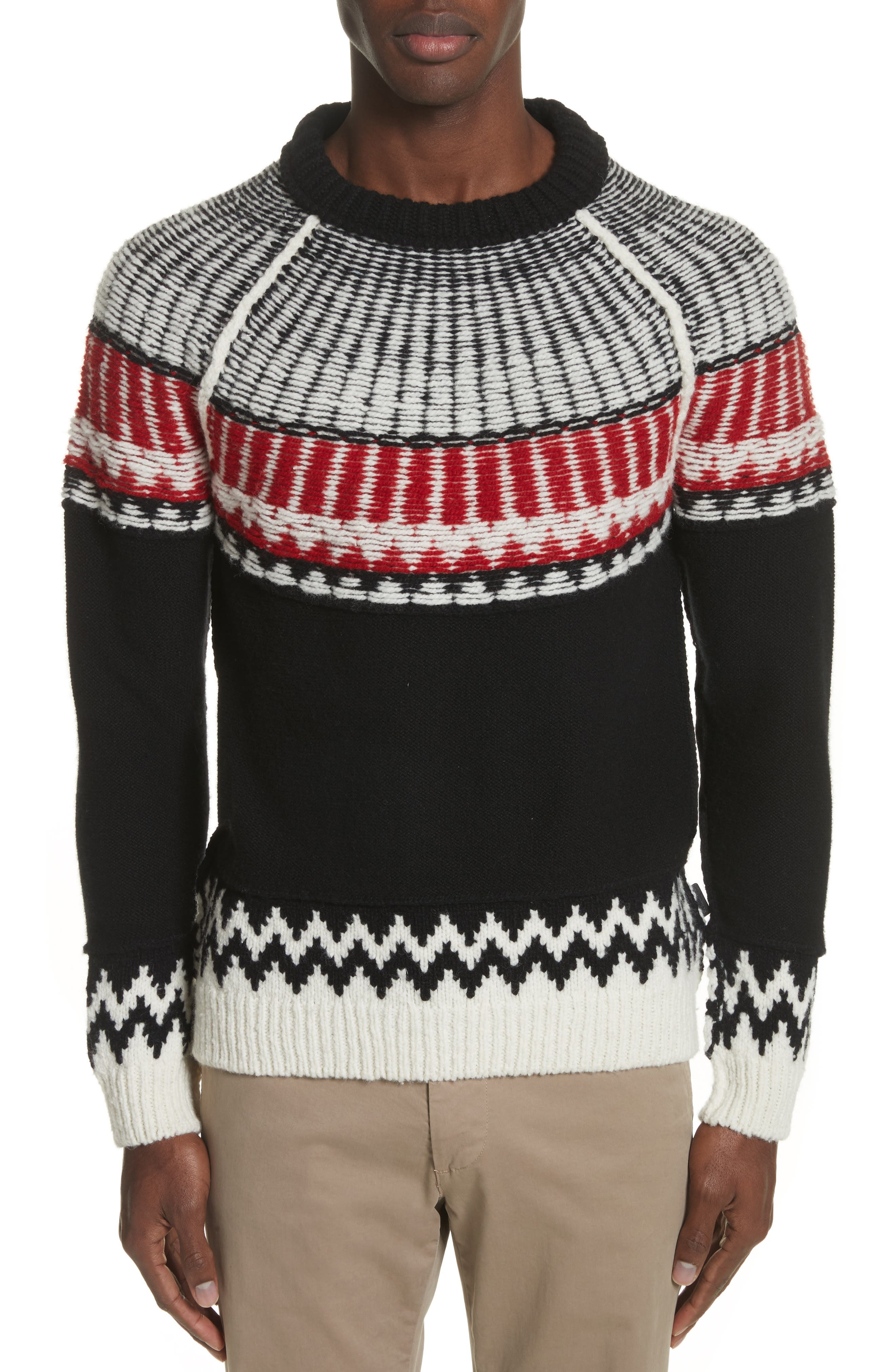 Main Image - Burberry Rycroft Wool & Cashmere Blend Sweater