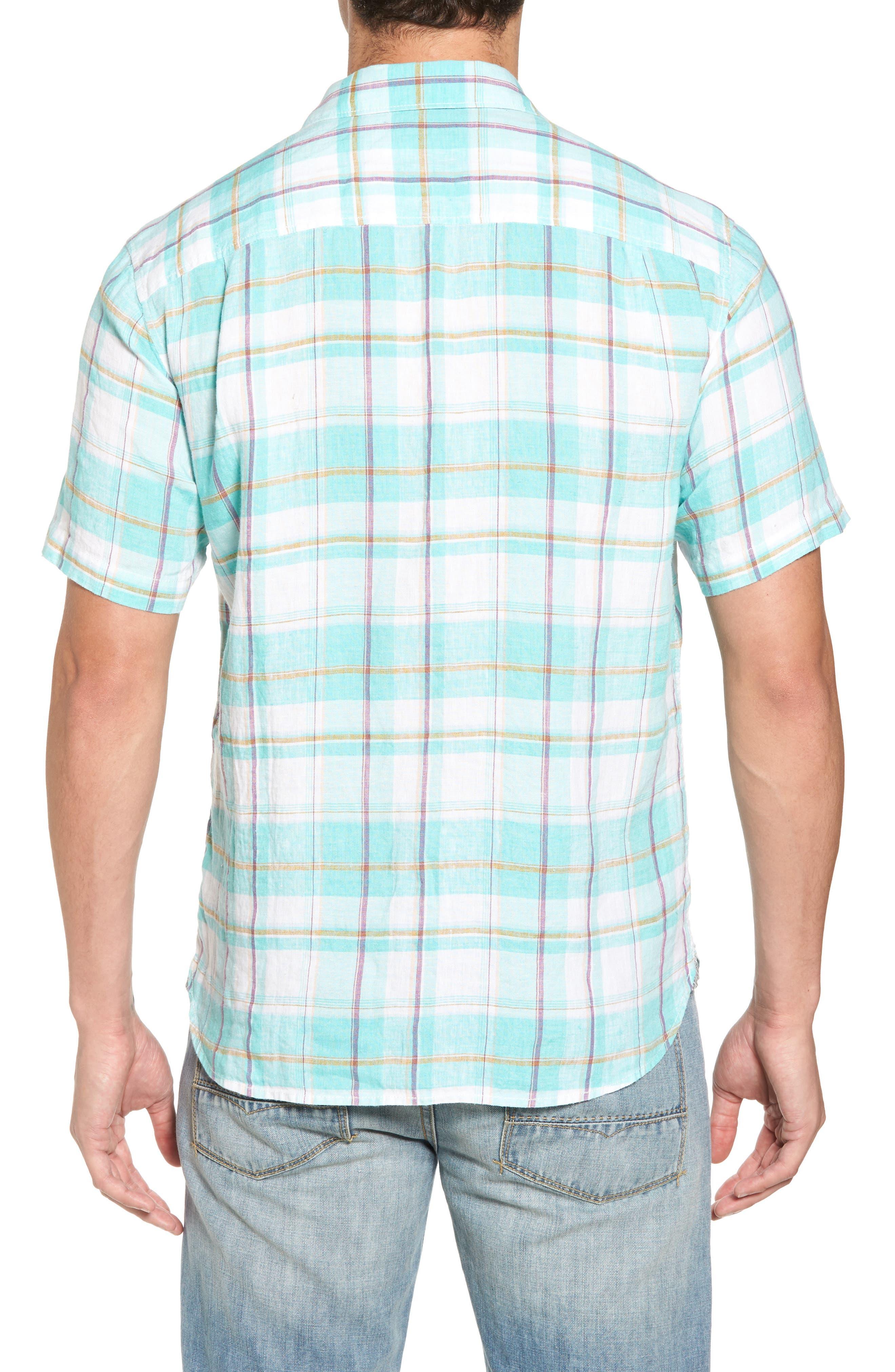 Lauderdale Regular Fit Sport Shirt,                             Alternate thumbnail 2, color,                             Dusty Aqua