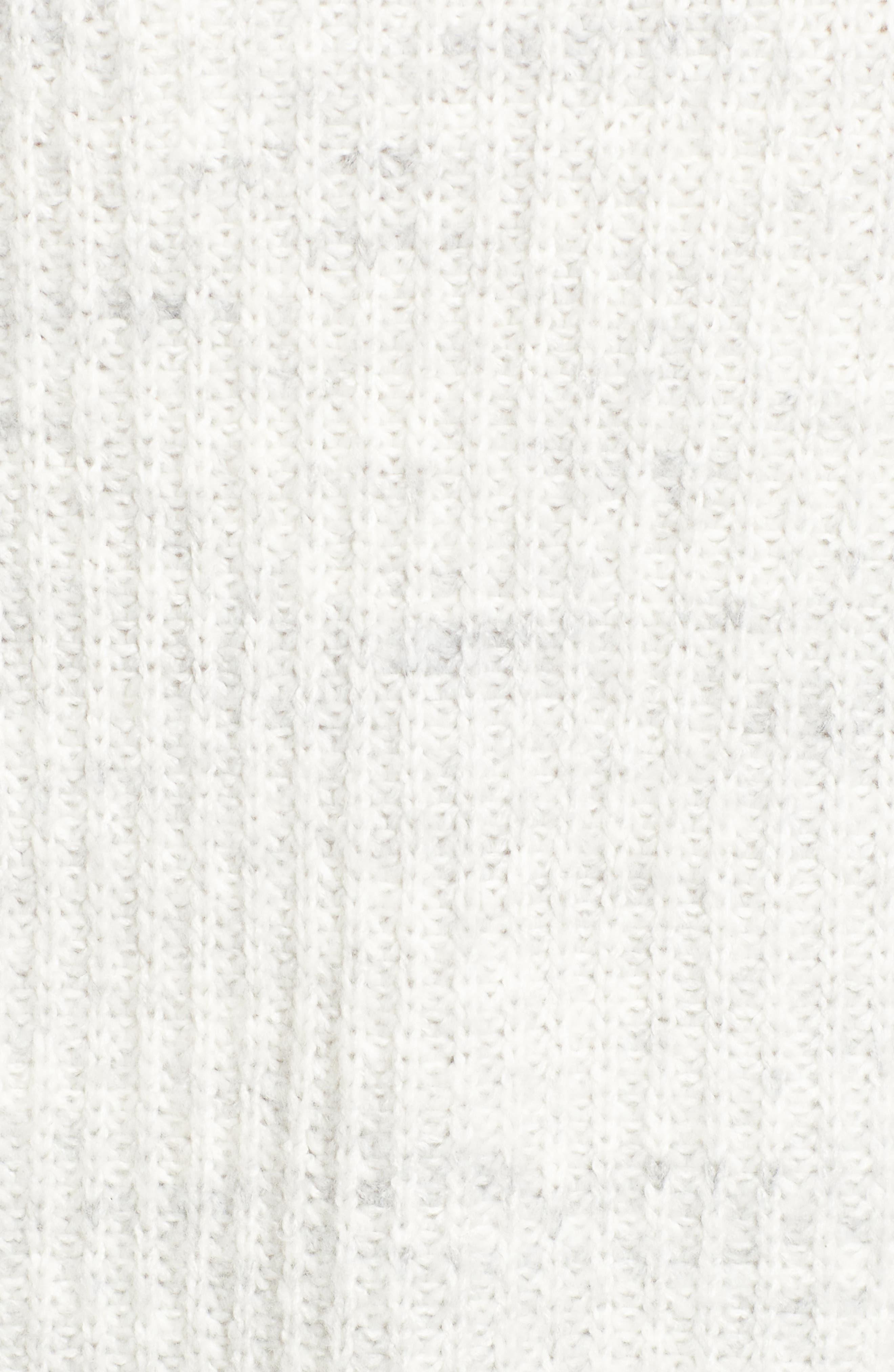 Oversize Cardigan,                             Alternate thumbnail 5, color,                             New York Snow