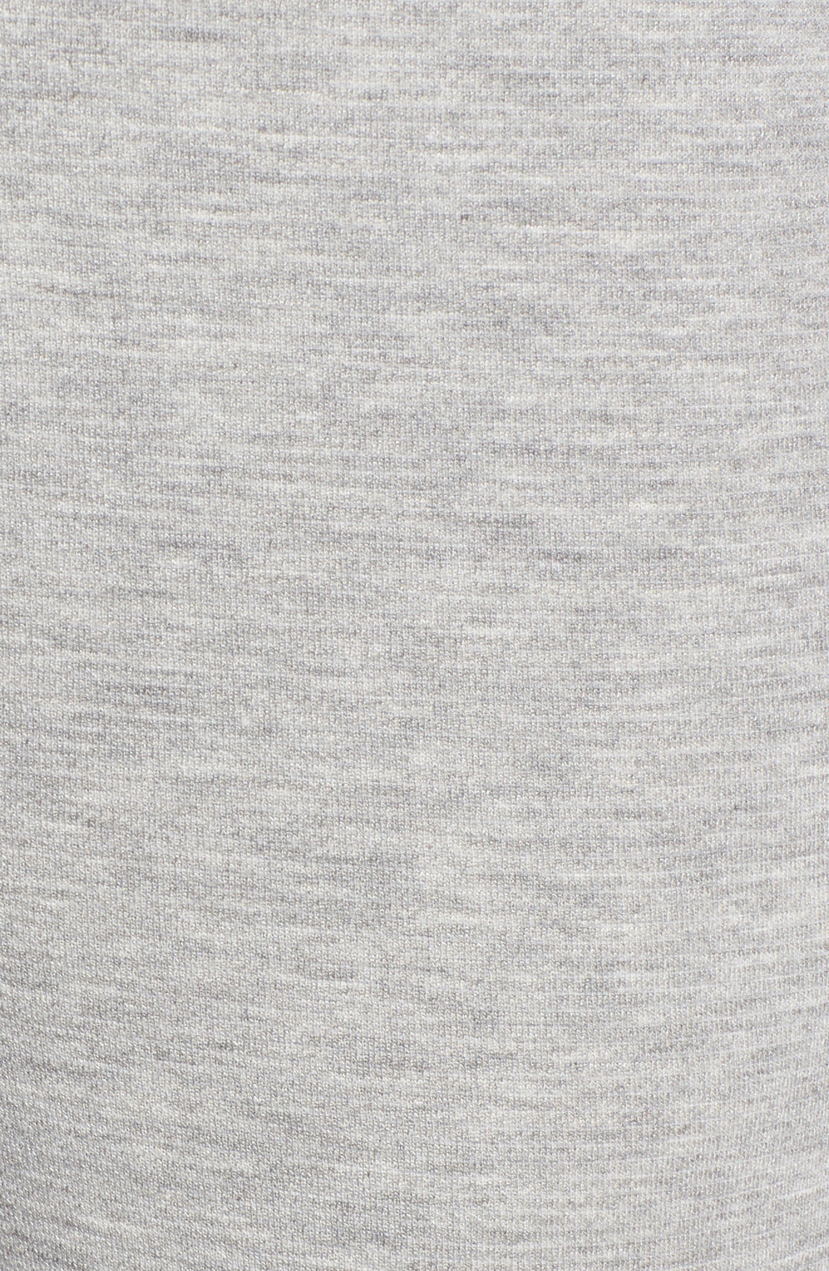 Slim Knit Pants,                             Alternate thumbnail 5, color,                             Heather Grey