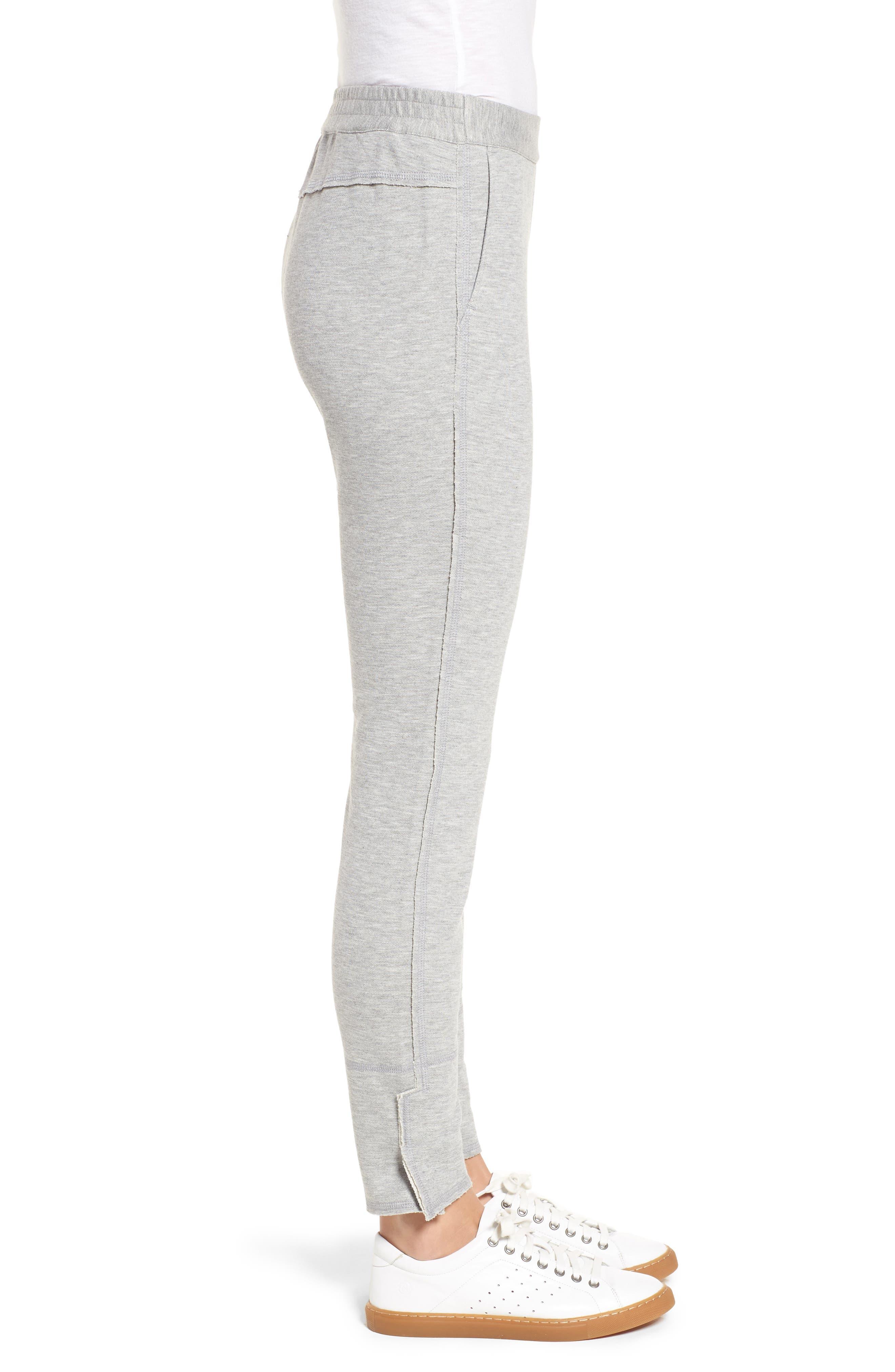 Slim Knit Pants,                             Alternate thumbnail 3, color,                             Heather Grey