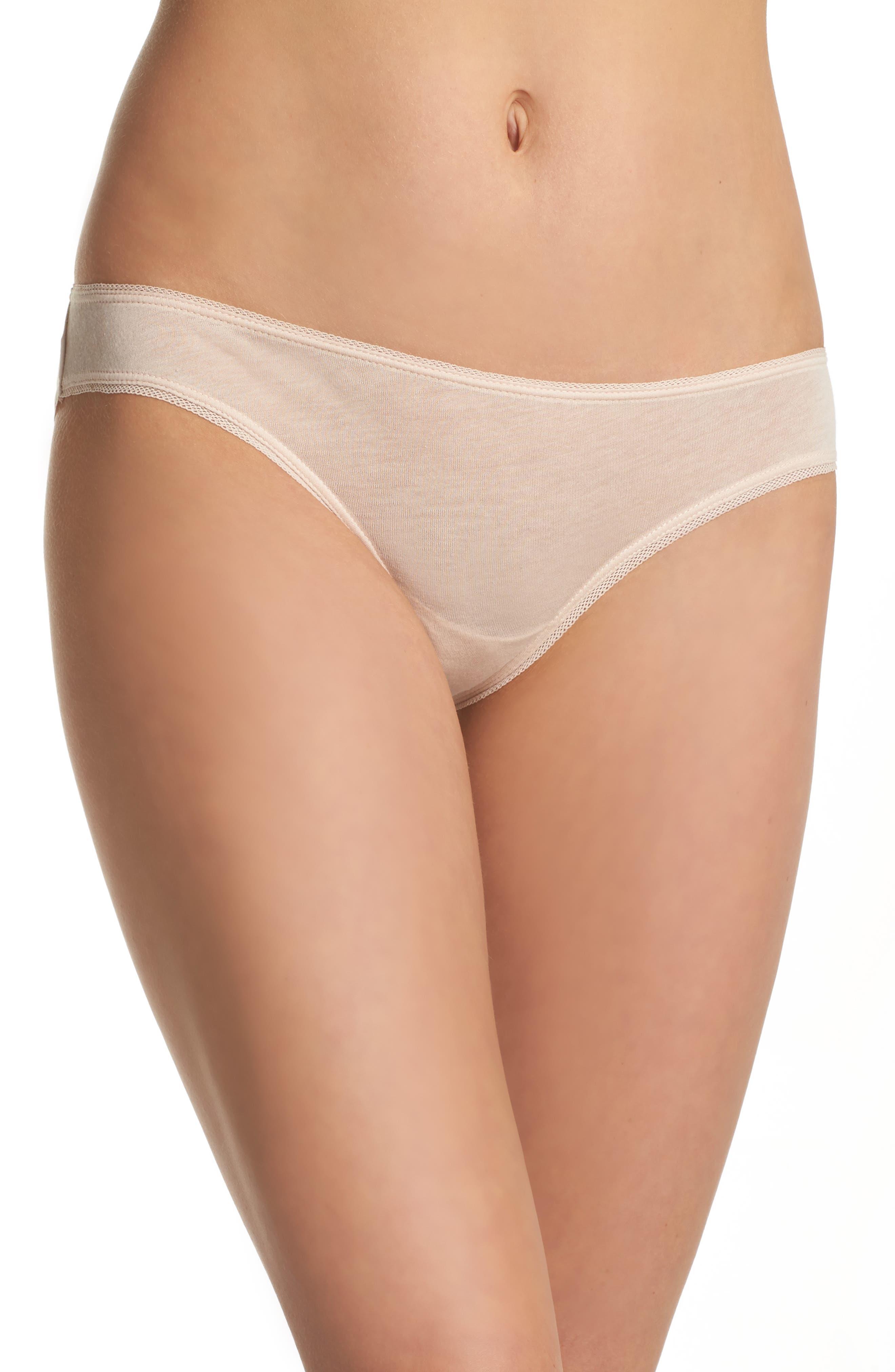 Organic Pima Cotton Bikini,                             Main thumbnail 1, color,                             Powder Pink