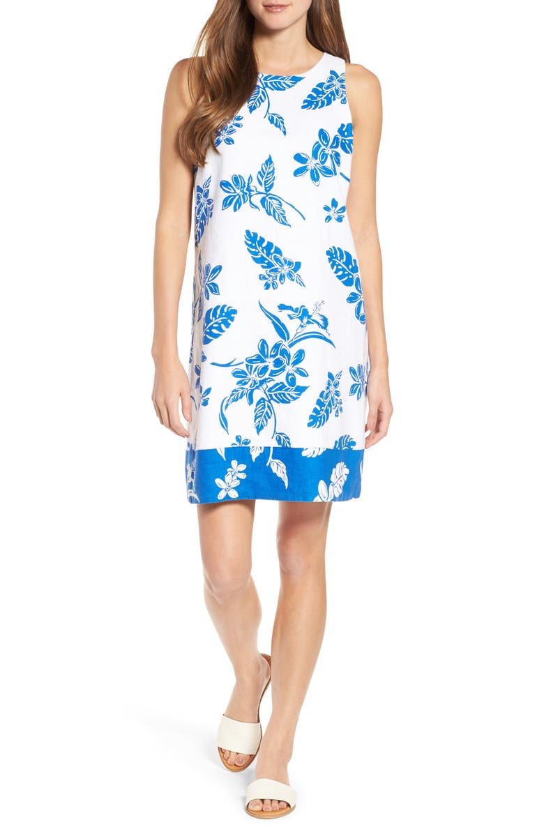 Hibiscus Hiatus Reverse Hem Shift Dress
