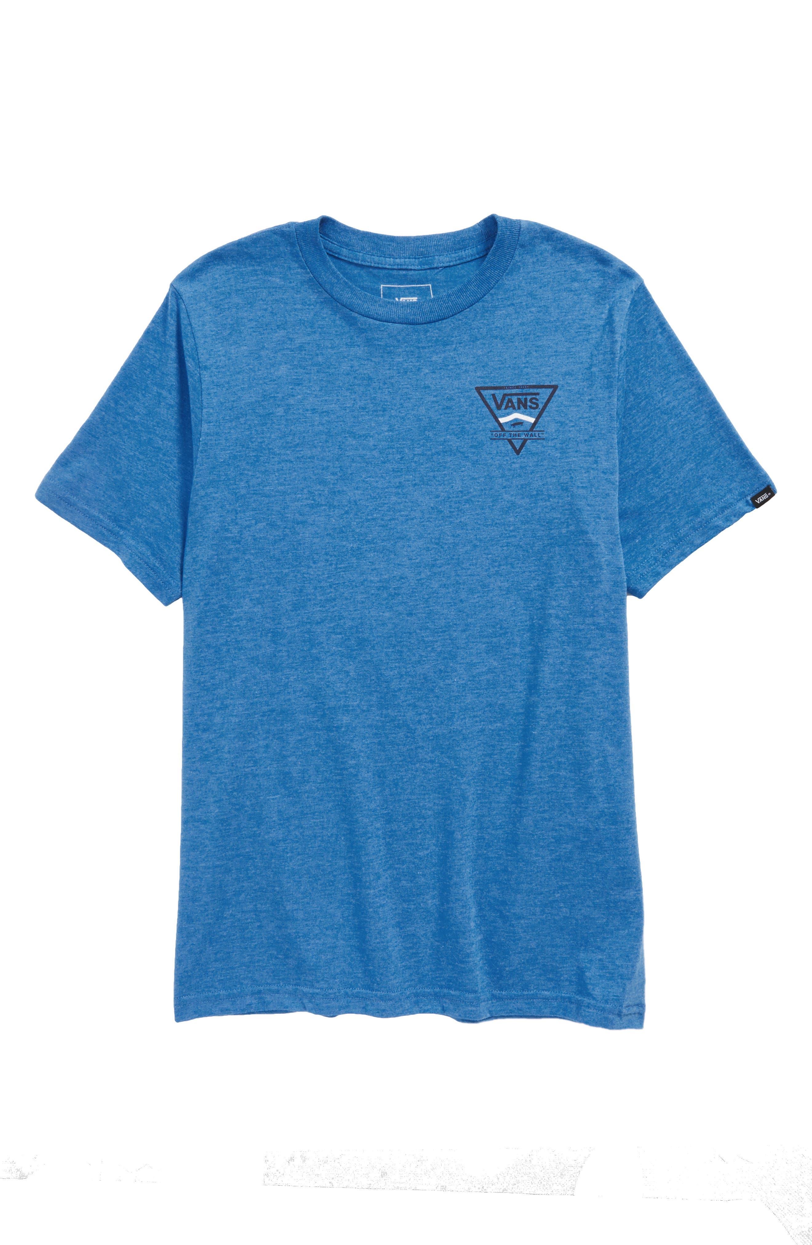 Logo Side Stripe T-Shirt,                         Main,                         color, Royal Heather
