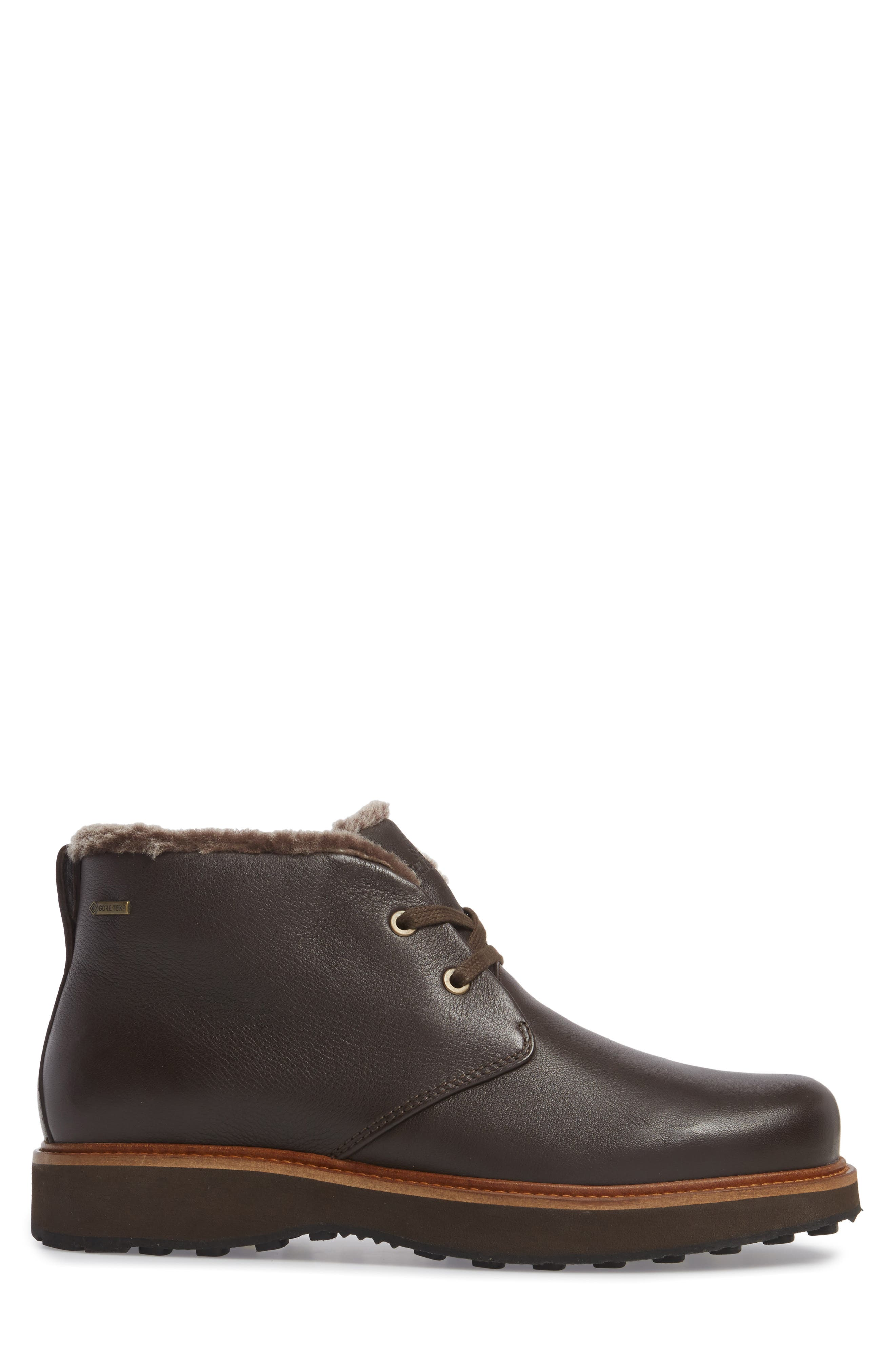 Winter's Day Waterproof Gore-Tex<sup>®</sup> Genuine Shearling Lined Chukka Boot,                             Alternate thumbnail 3, color,                             Espresso Brown Leather