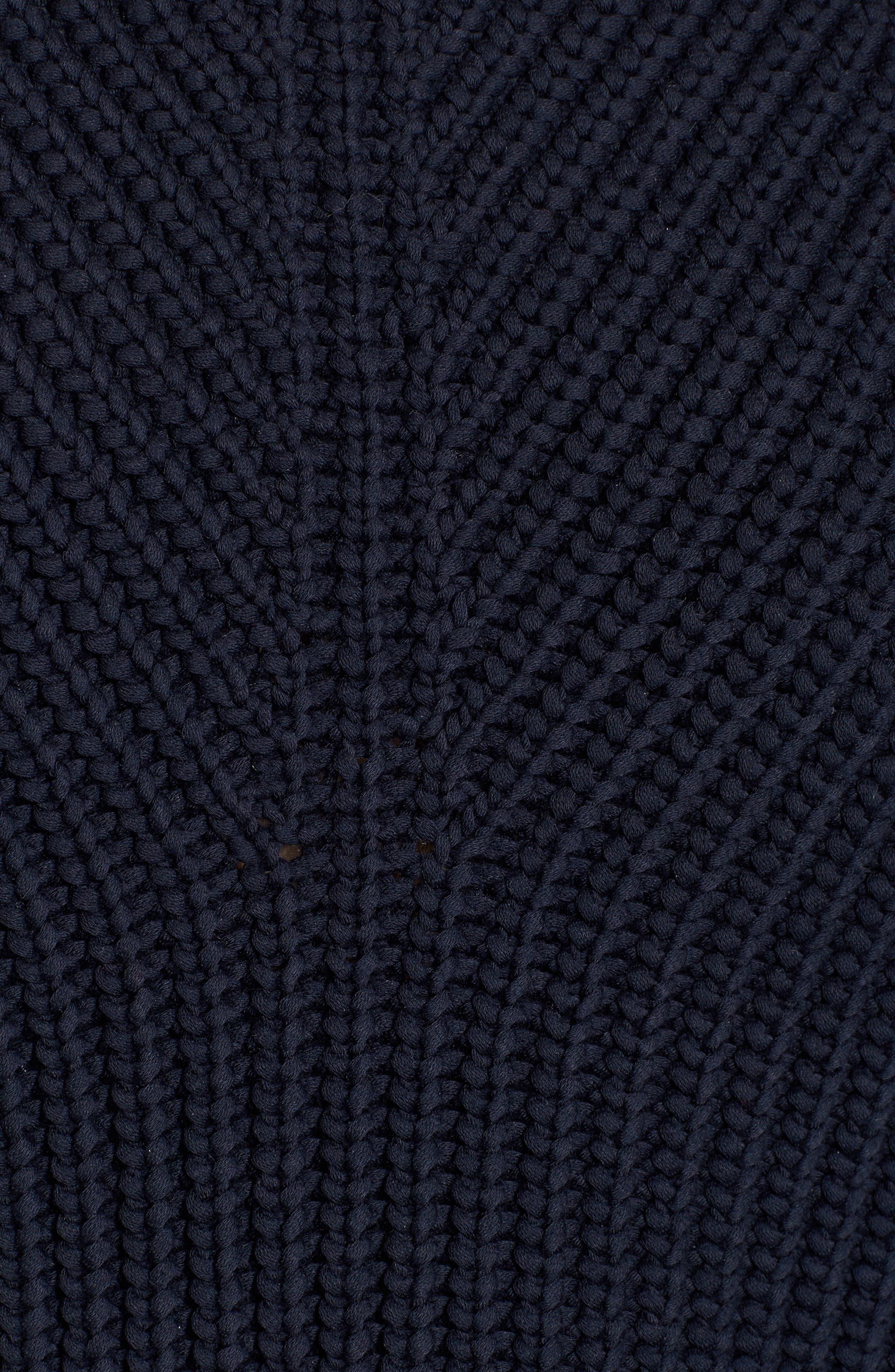 Raglan Sleeve Knit Sweater,                             Alternate thumbnail 5, color,                             Navy Night