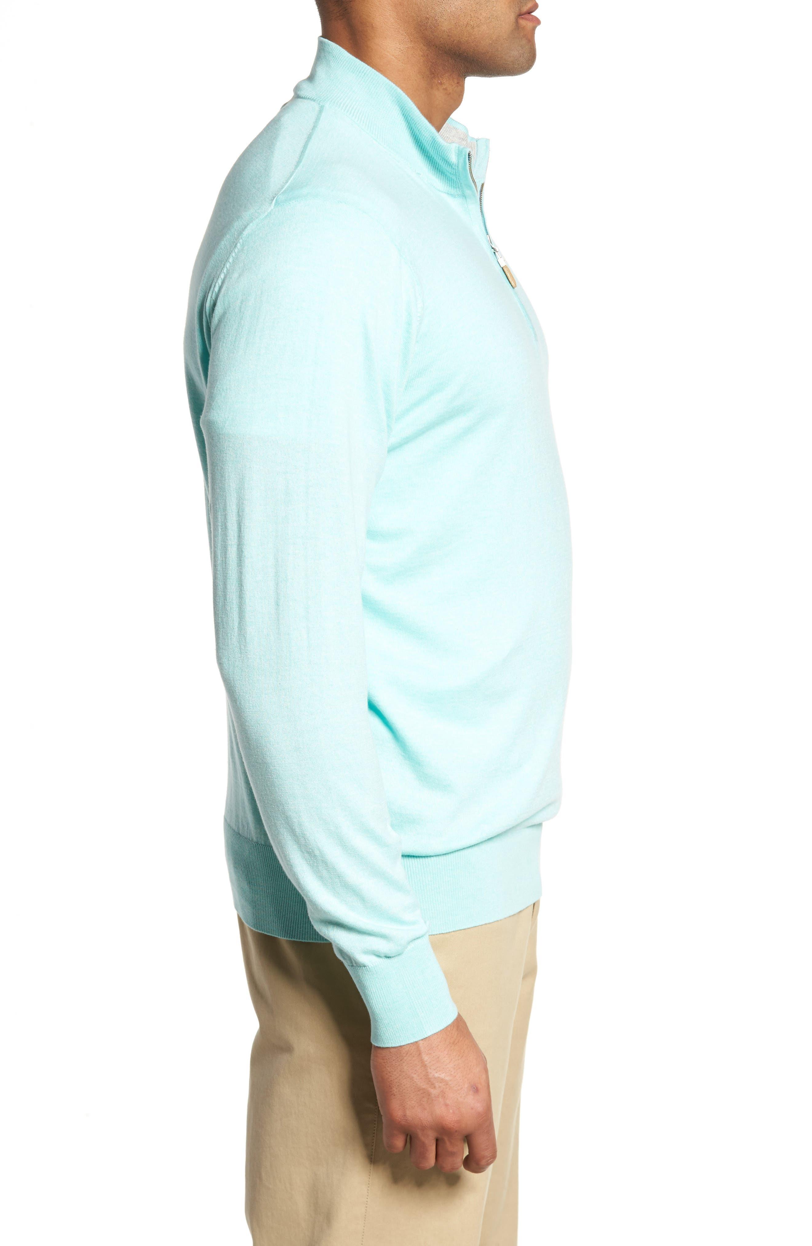 Crown Soft Quarter-Zip Pullover,                             Alternate thumbnail 3, color,                             Venetian Mist