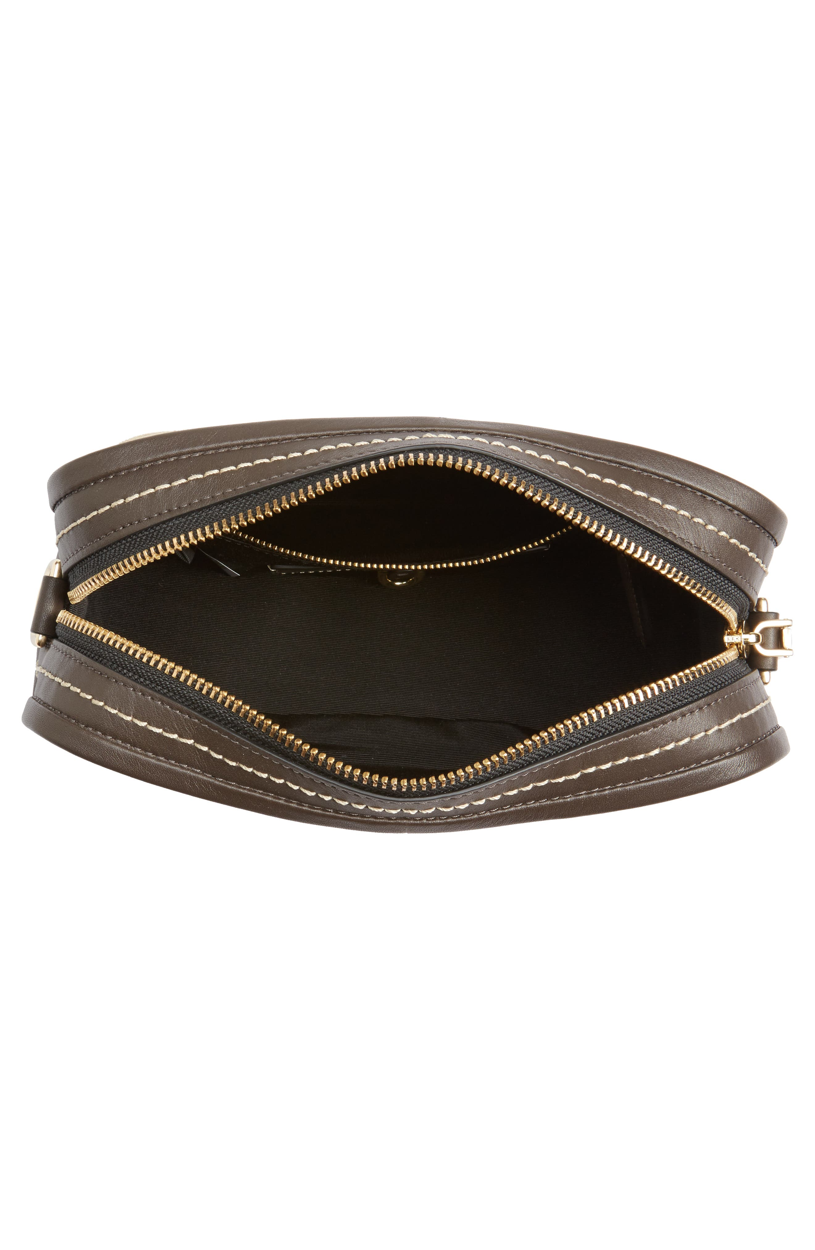 The Squeeze Suede & Leather Shoulder Bag,                             Alternate thumbnail 4, color,                             Pyrite
