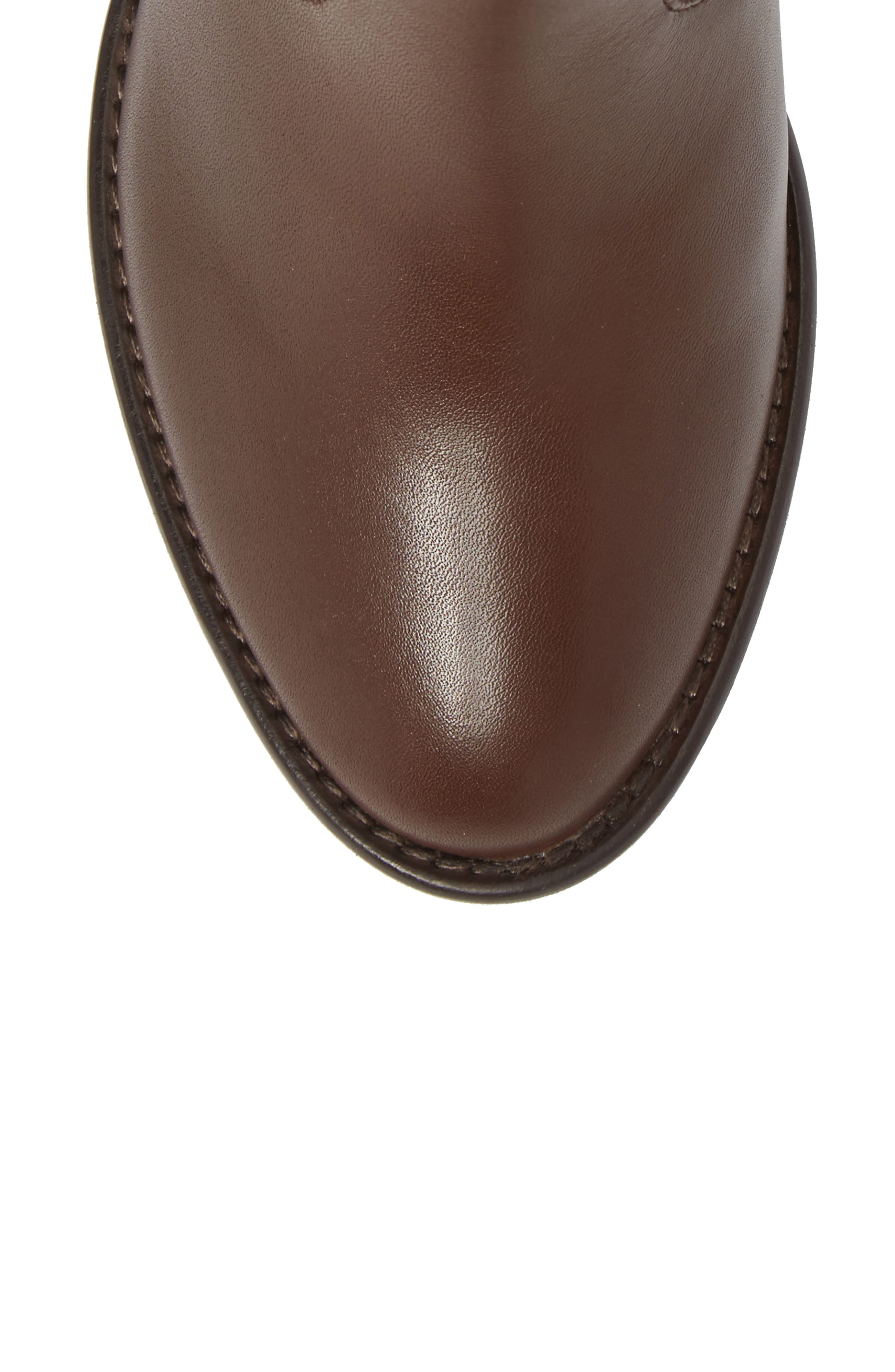 Refined Water Resistant Zip Bootie,                             Alternate thumbnail 5, color,                             Bitter Chocolate Leather