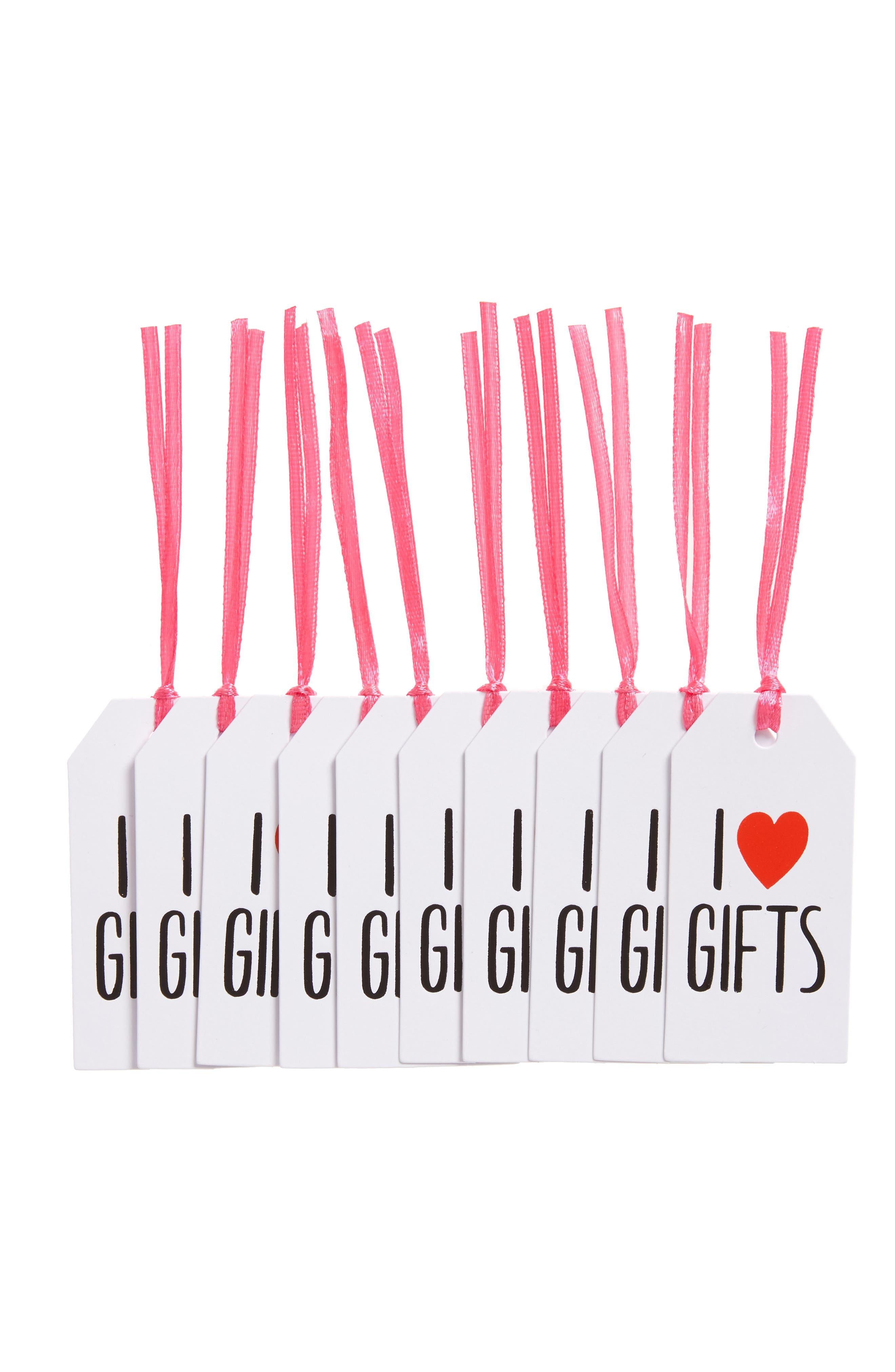 Ashkahn I Heart Gifts Set of 10 Letterpress Gift Tags