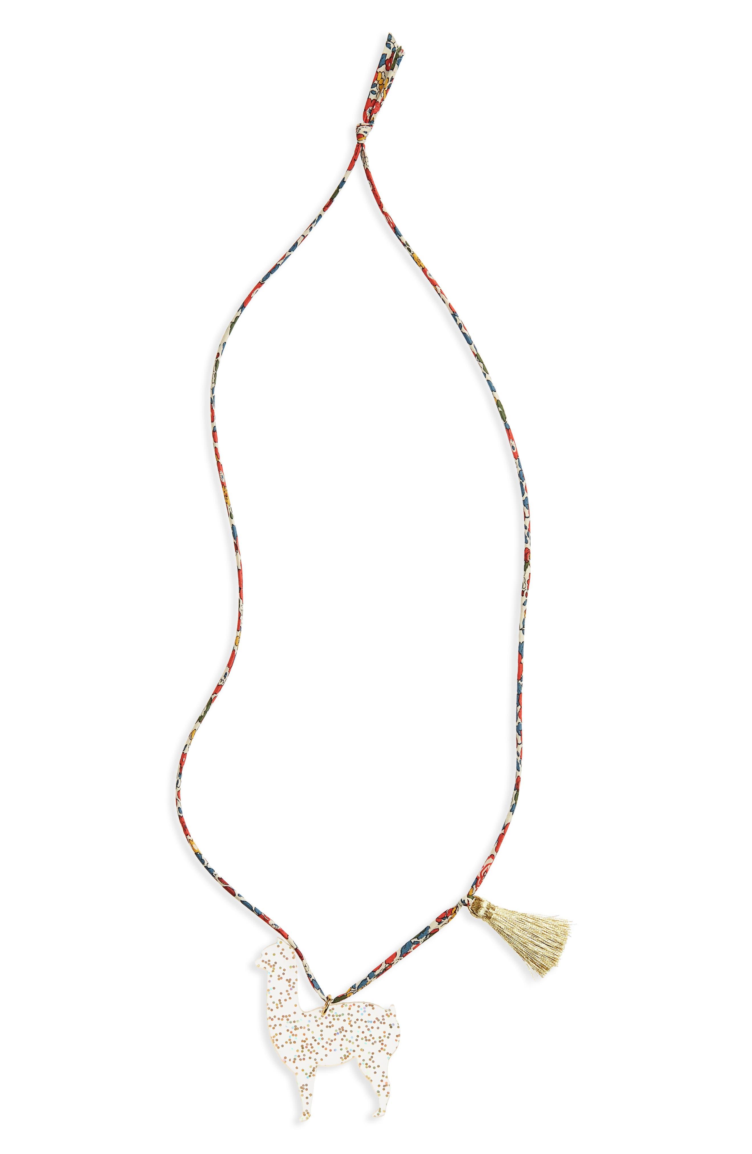 Little Lux Goldie the Alpaca Pendant Necklace (Girls)