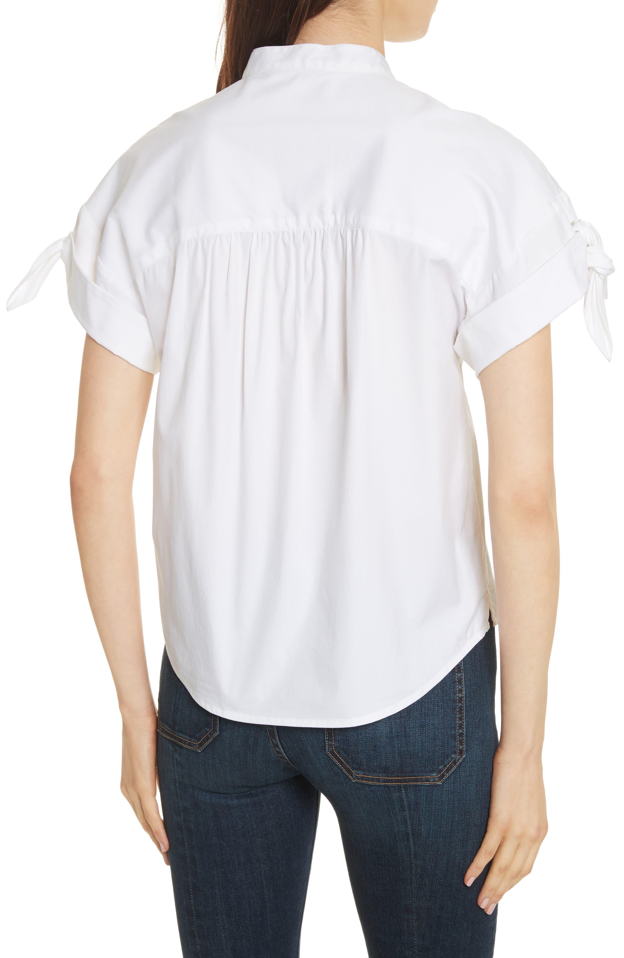 Sanaa Stretch Cotton Shirt,                             Alternate thumbnail 2, color,                             White