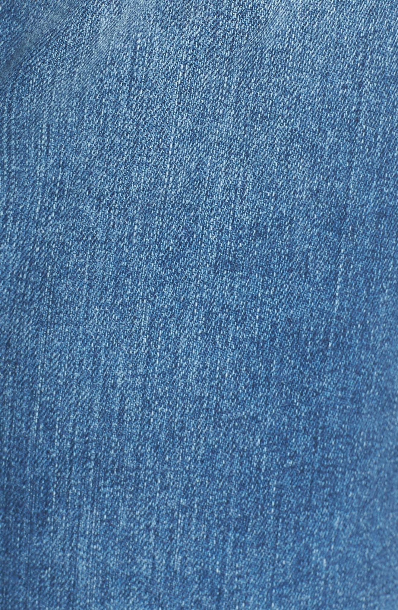 Alternate Image 5  - AG 'The Phoebe' Vintage High Rise Straight Leg Jeans (16 Years Indigo Deluge)